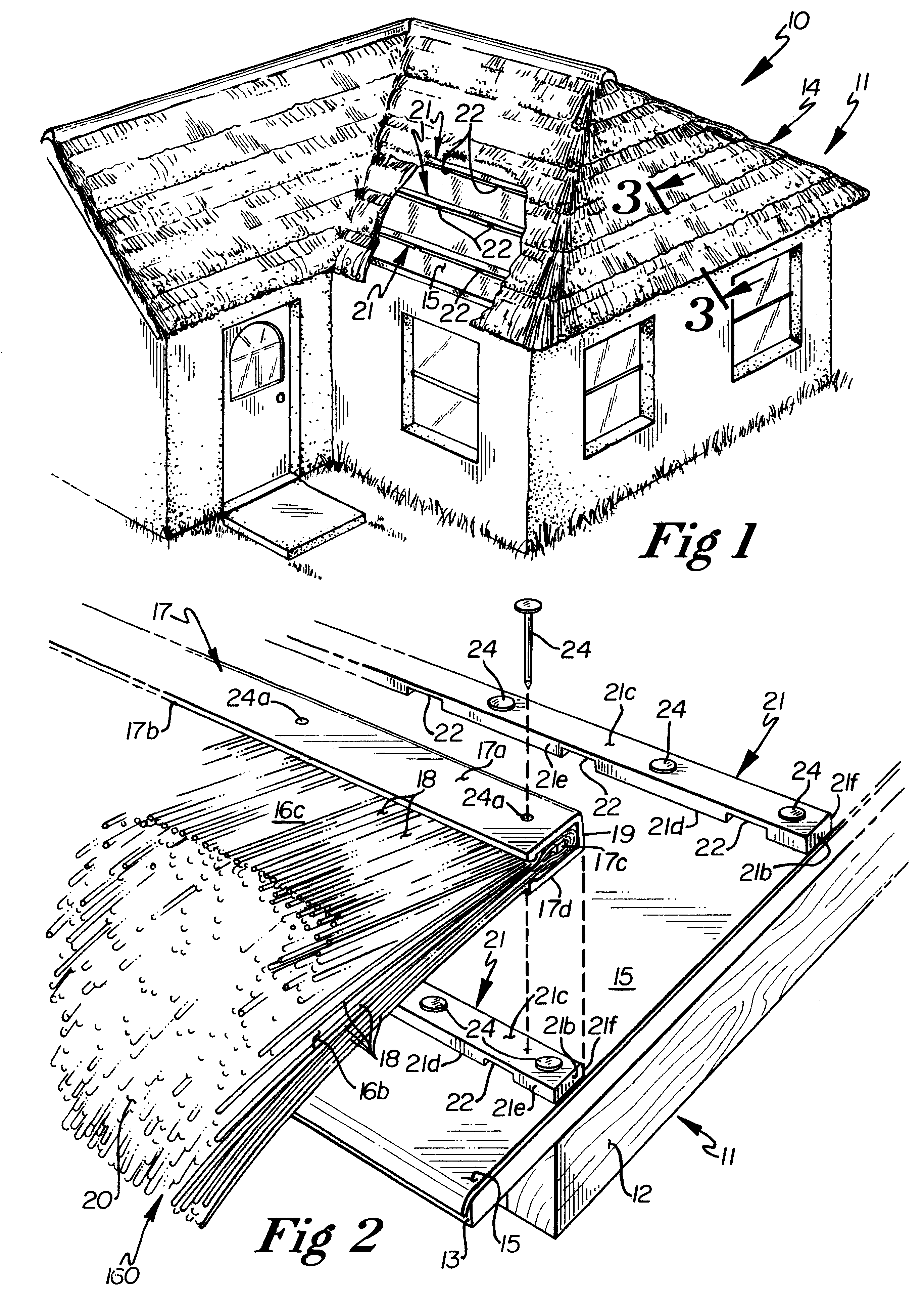 Patent Us6226949 Simulated Thatched Roof Google Patents