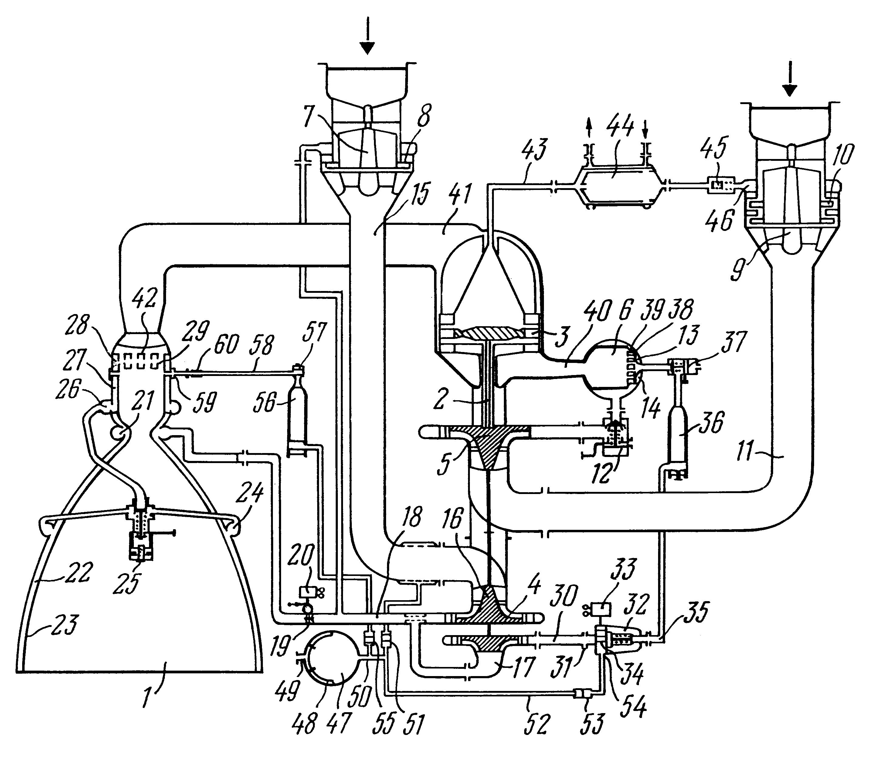 Patent US6226980 Liquidpropellant rocket engine with turbine – Diagram Of Rocket Engine