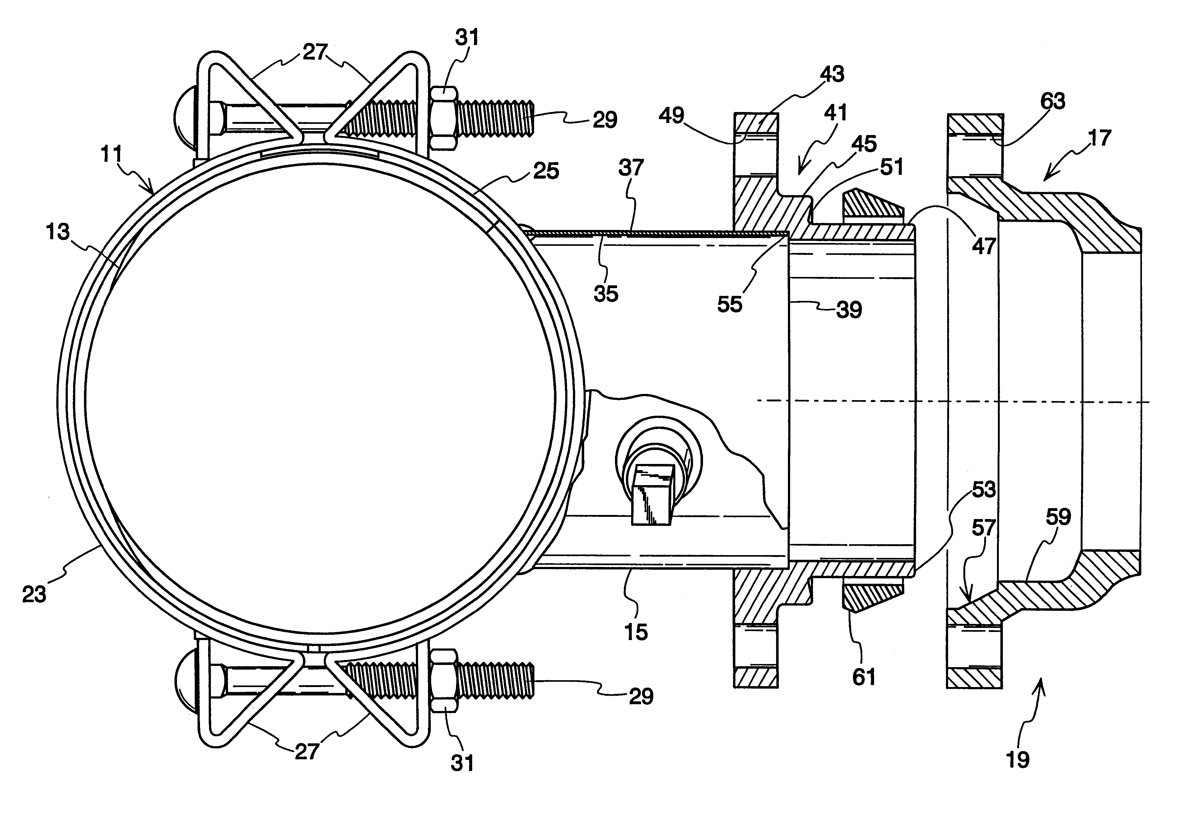 Patent us tapping sleeve with a mechanical joint
