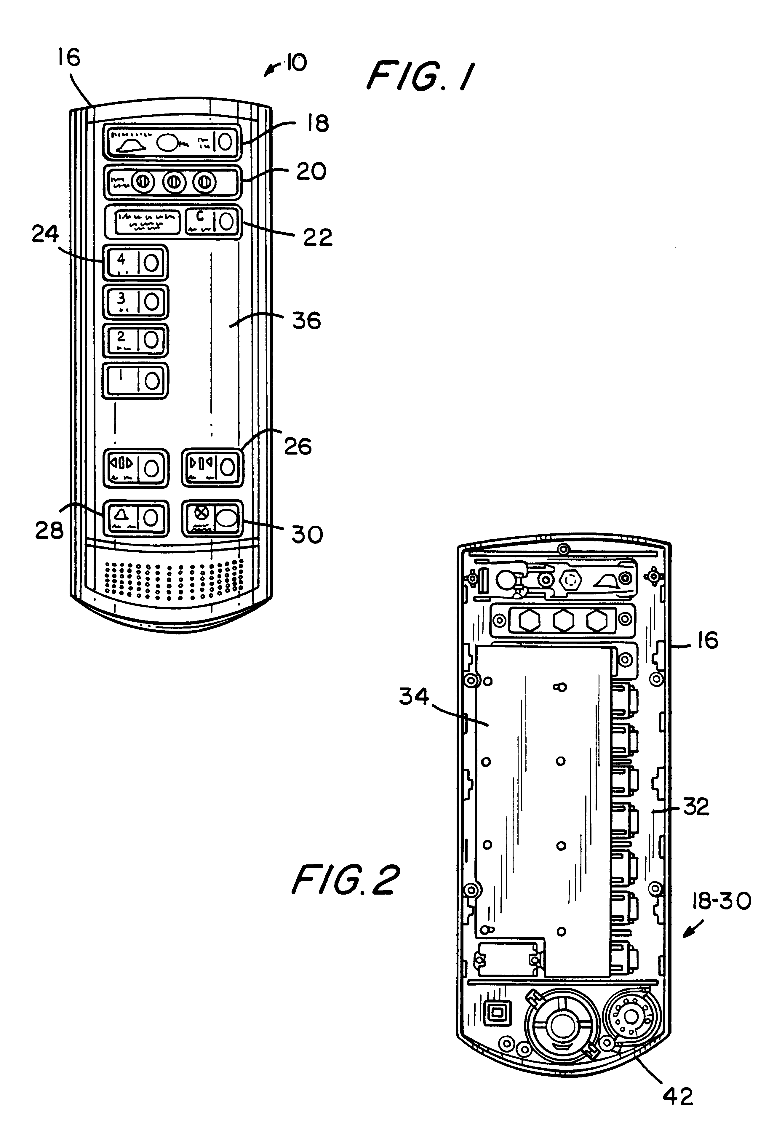 patent us6227335 - elevator car operating panel