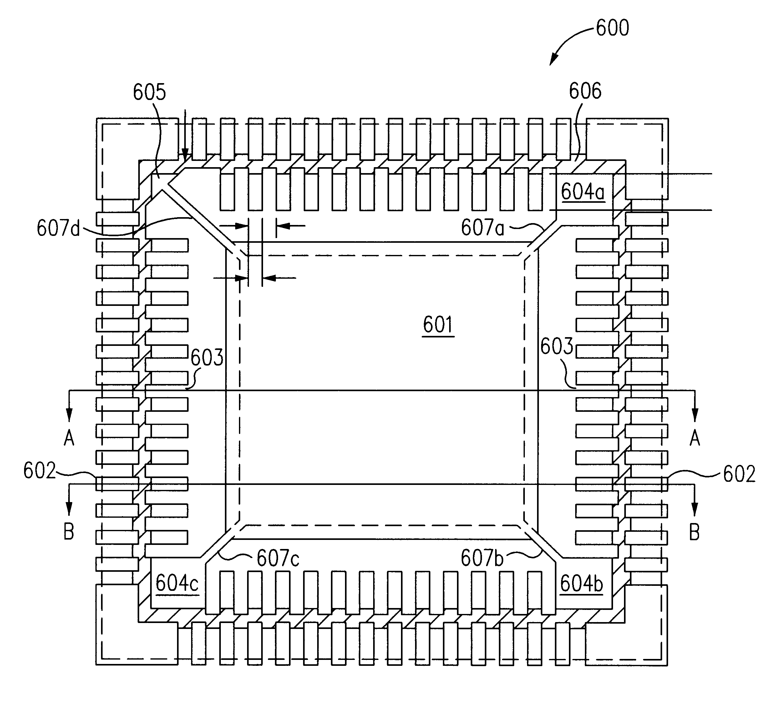 patent us6229200 - saw-singulated leadless plastic chip carrier