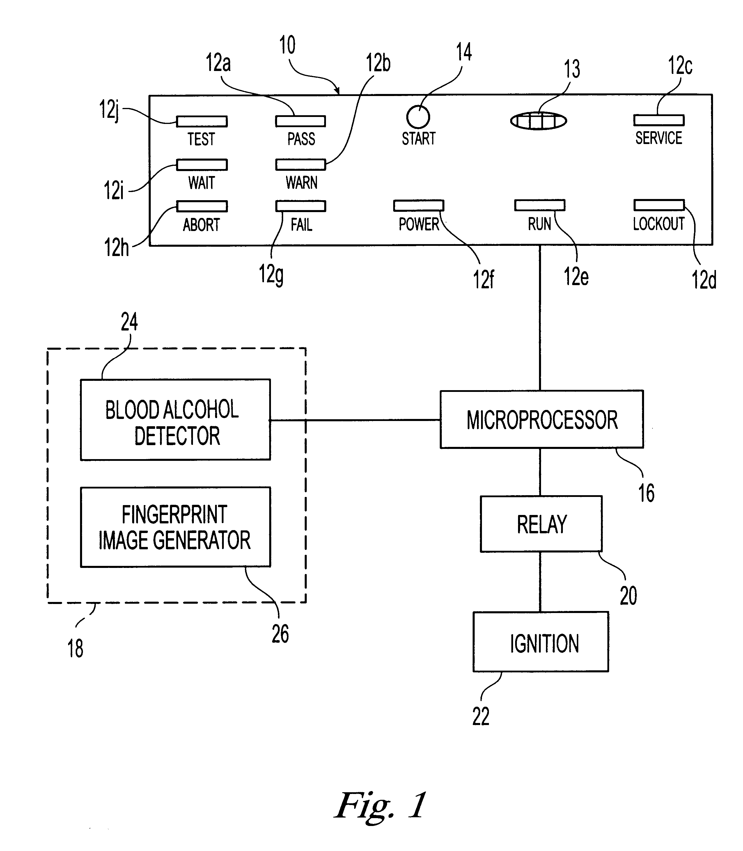 US06229908 20010508 D00001 patent us6229908 driver alcohol ignition interlock google patents on monitech ignition interlock wiring diagram volvo