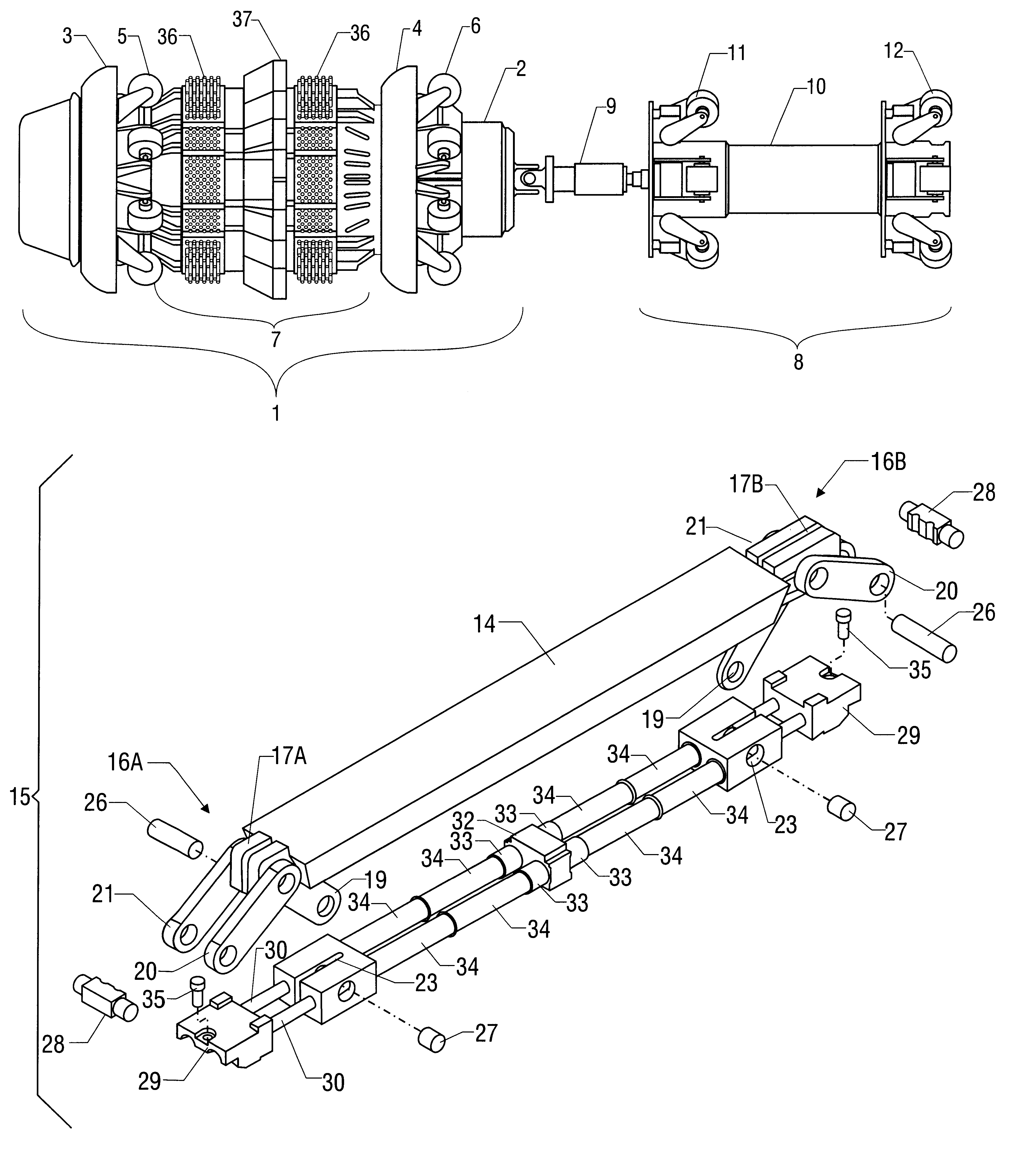 Patent us consistent drag floating backing bar