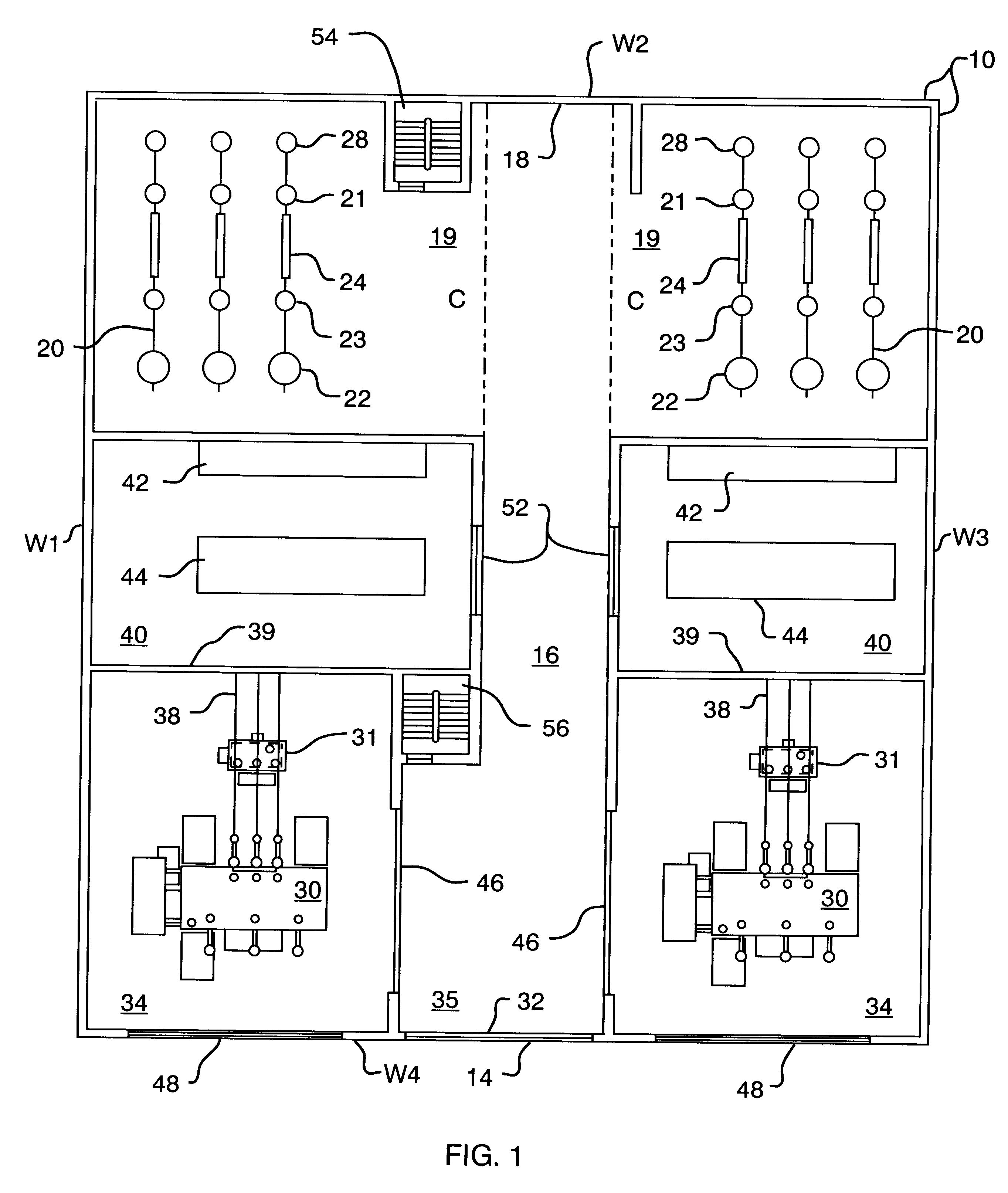 Patent us6233137 compact power distribution substation for Distribution substation
