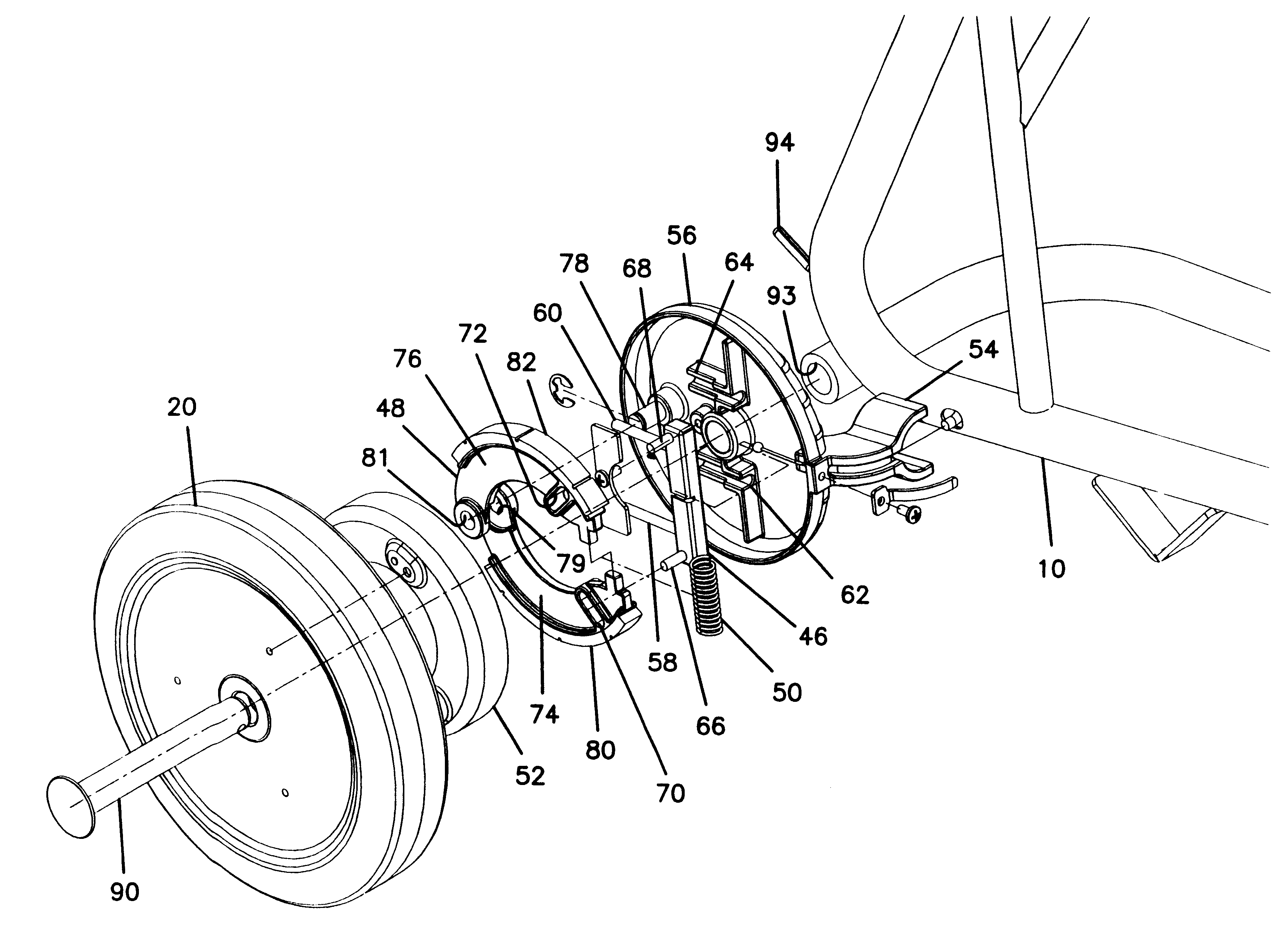 patent us6237725 - cart automatic brake mechanism