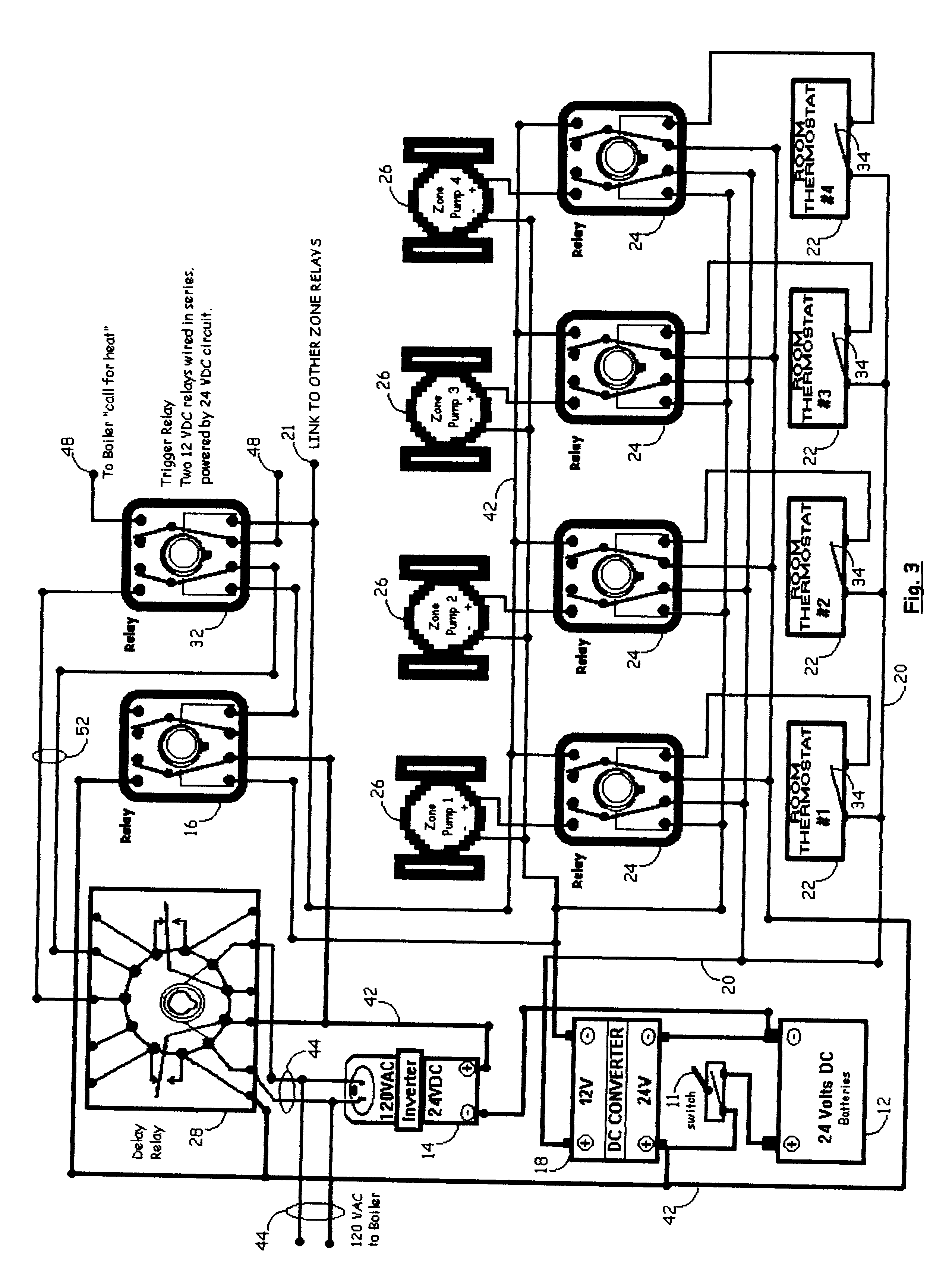 patent us6237855 direct current electrical controls for heating Malibu Lighting Transformer Wiring Diagram patent drawing