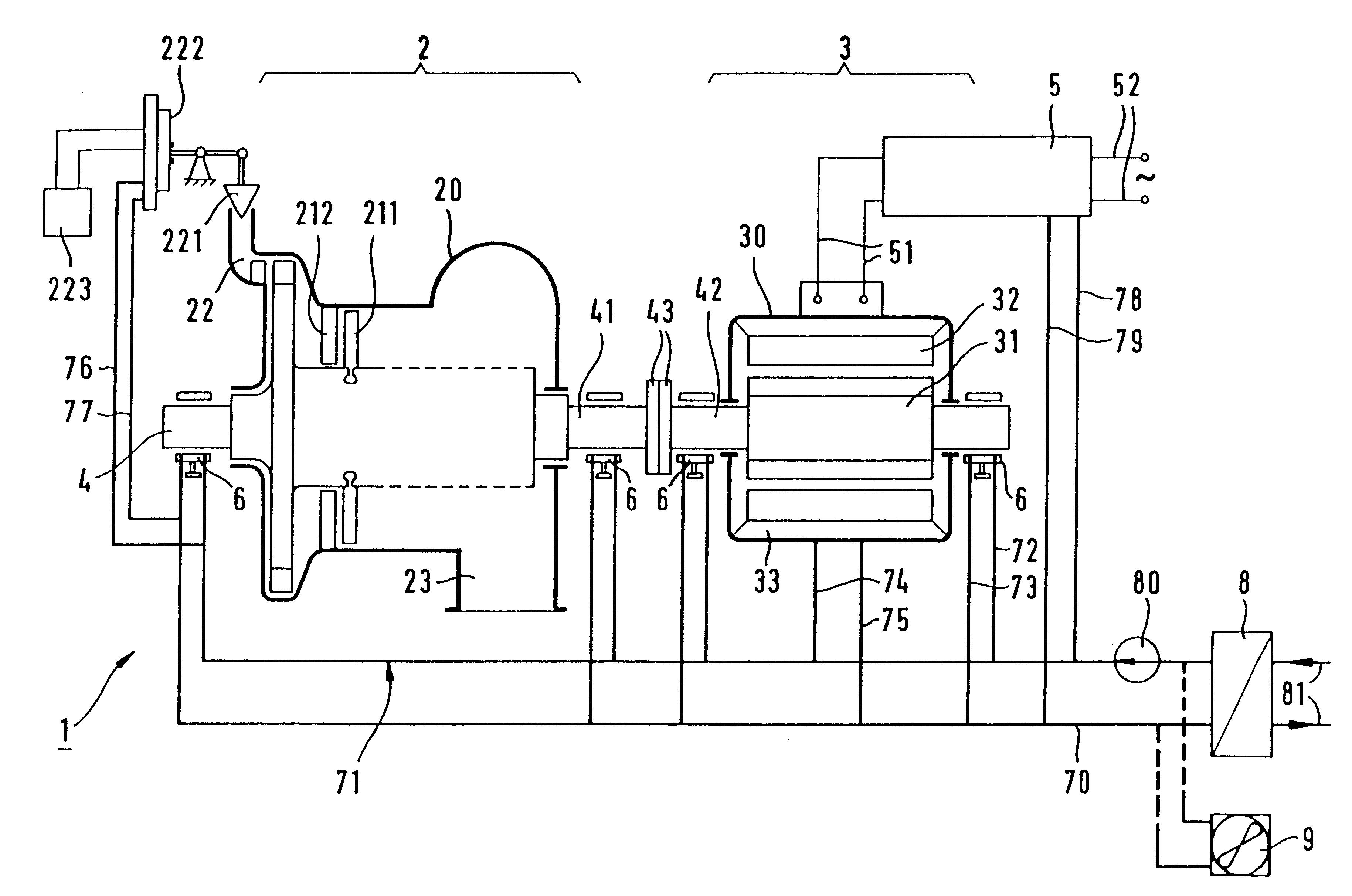 Patent US Steam turbogenerator set having a steam turbine