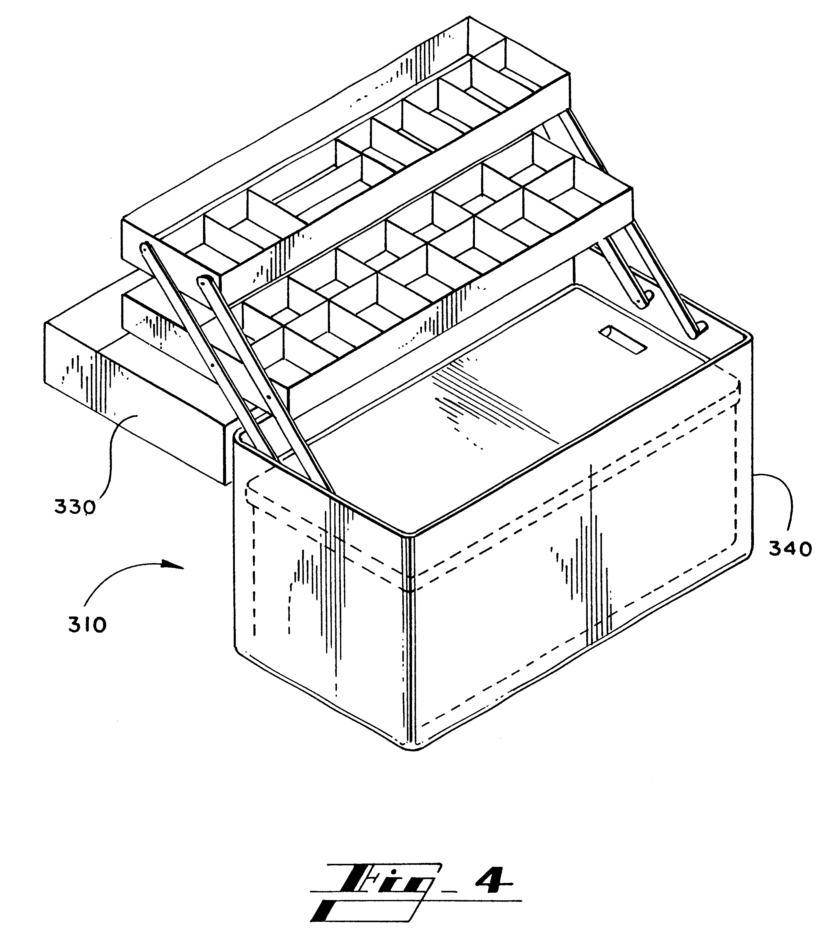 Line Drawing Tool : Patent us combination toolbox cooler device