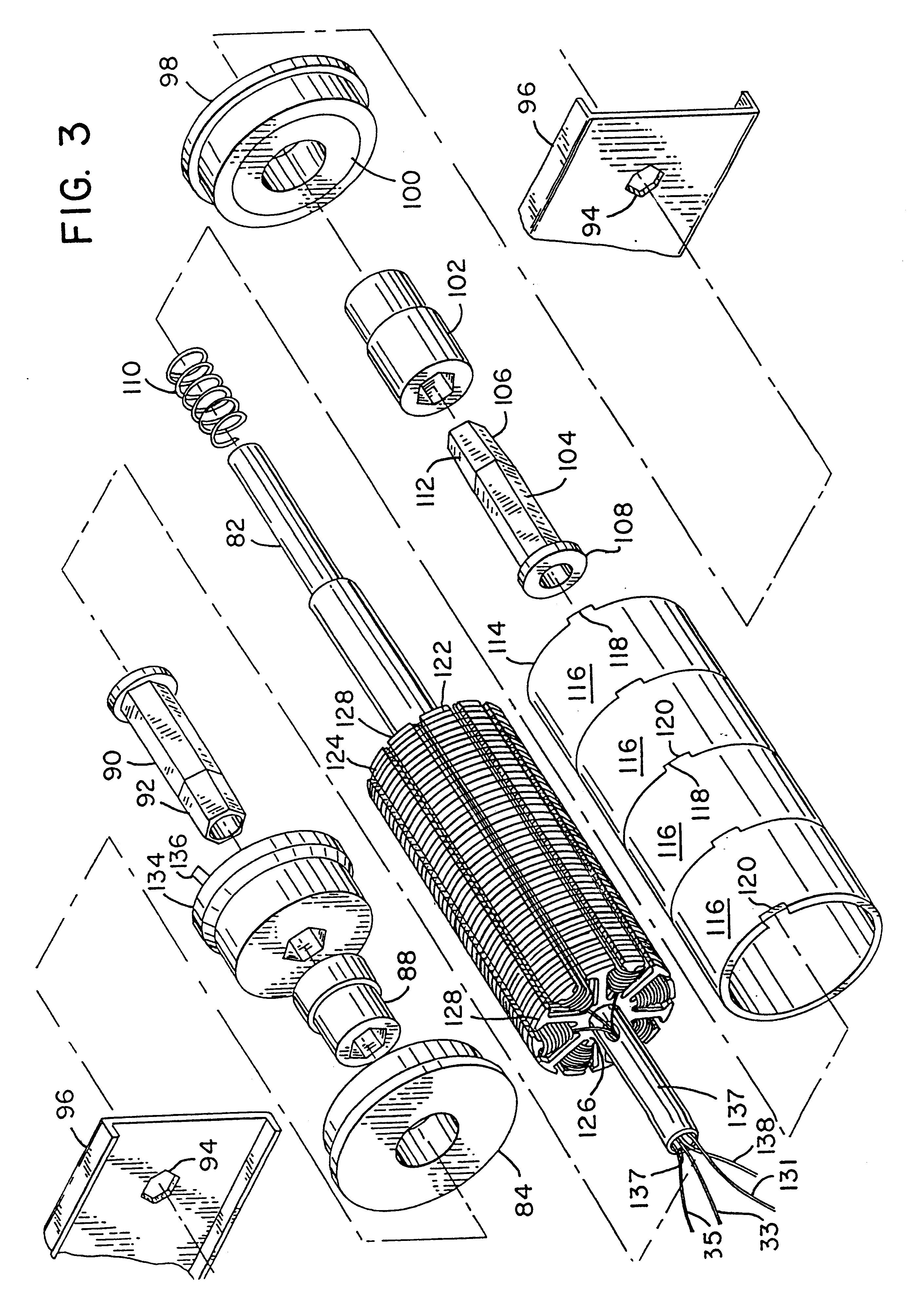 patent us6244427 modular gearless motorized conveyor roller patent drawing