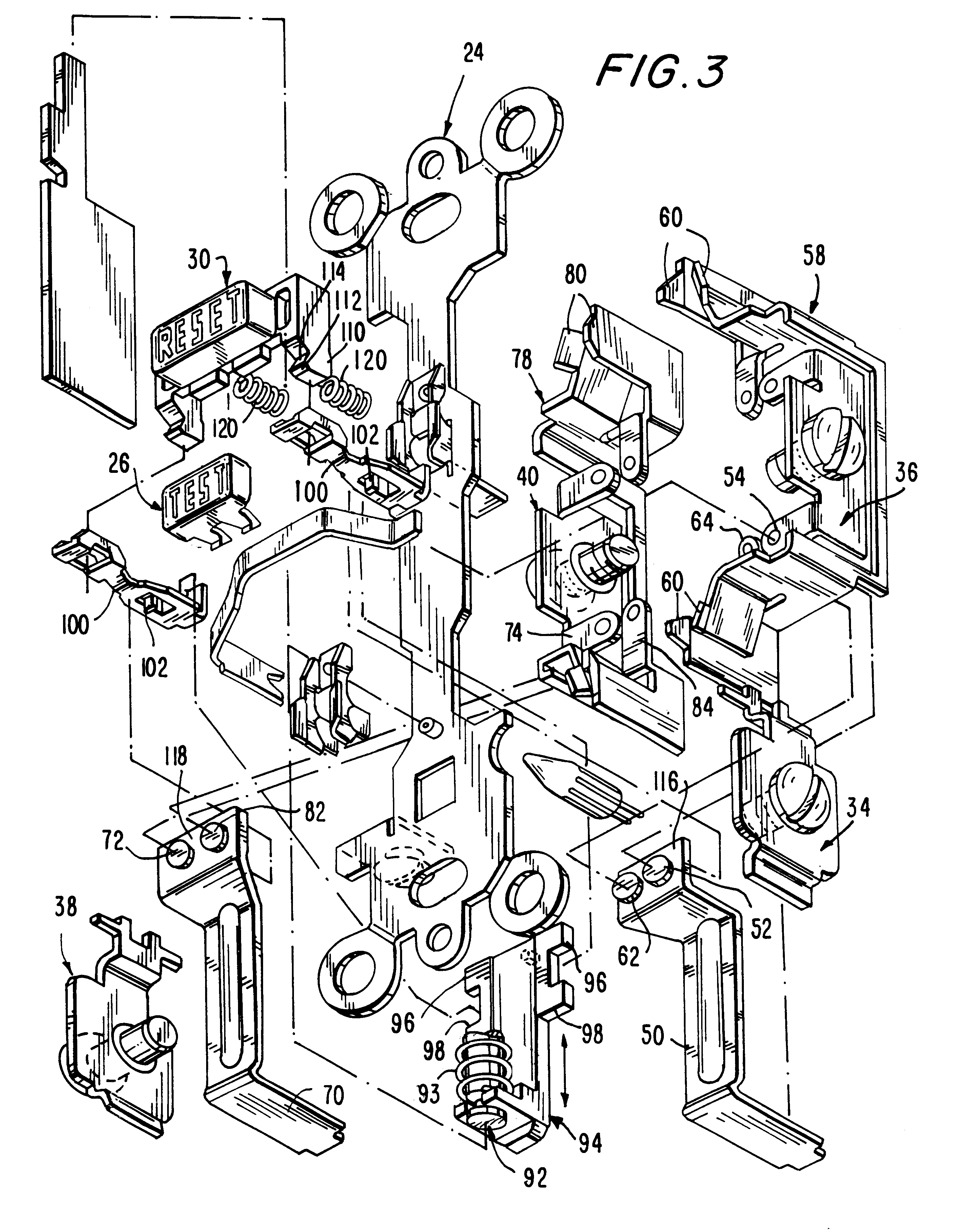 US06246558 20010612 D00003 patent us6246558 circuit interrupting device with reverse wiring,Wiring A Gfci Circuit