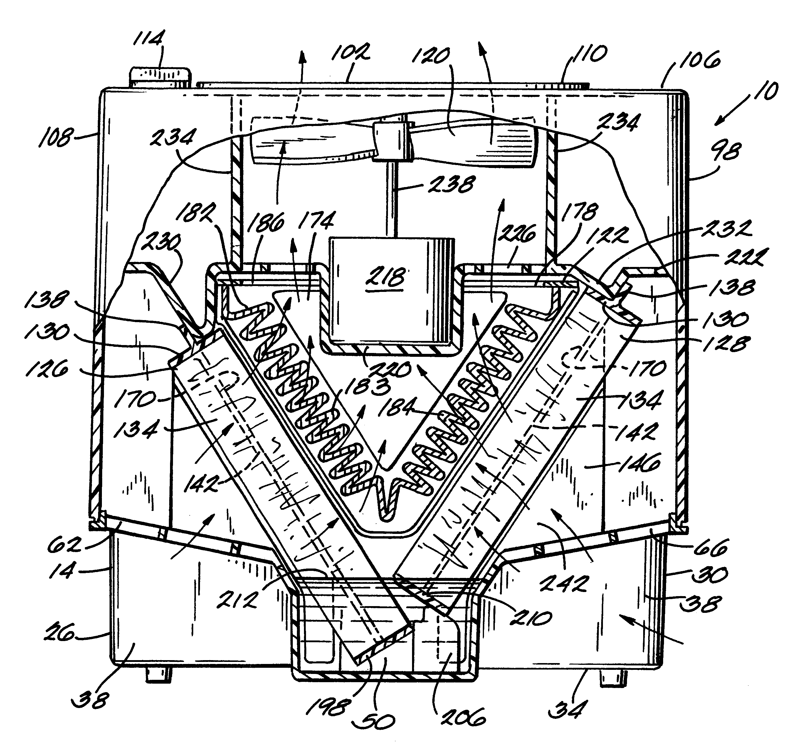 US6248155 Combination humidifier and air purifier   Patents #282828