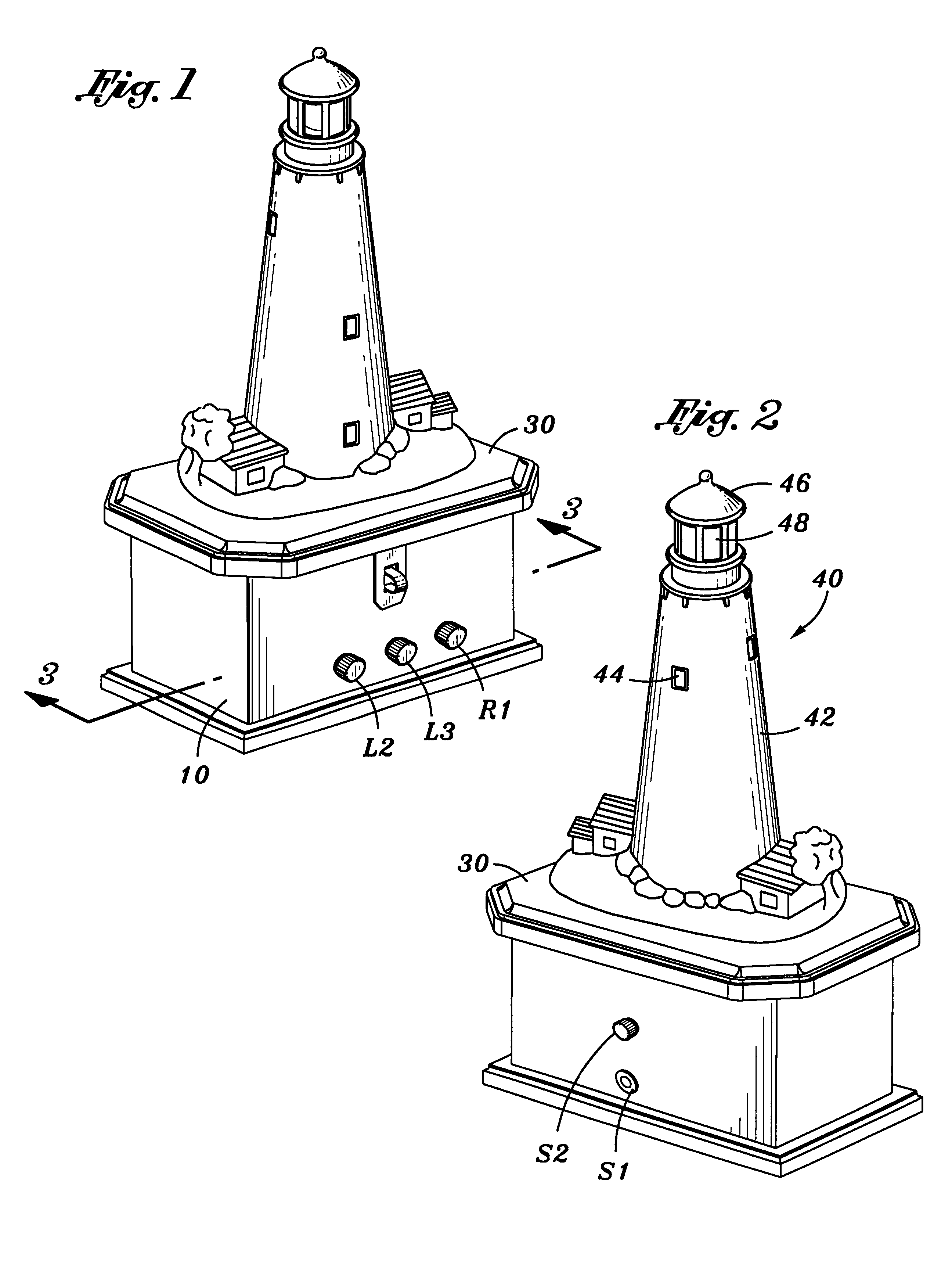 patent us6250768 lighting apparatus for a model lighthouse