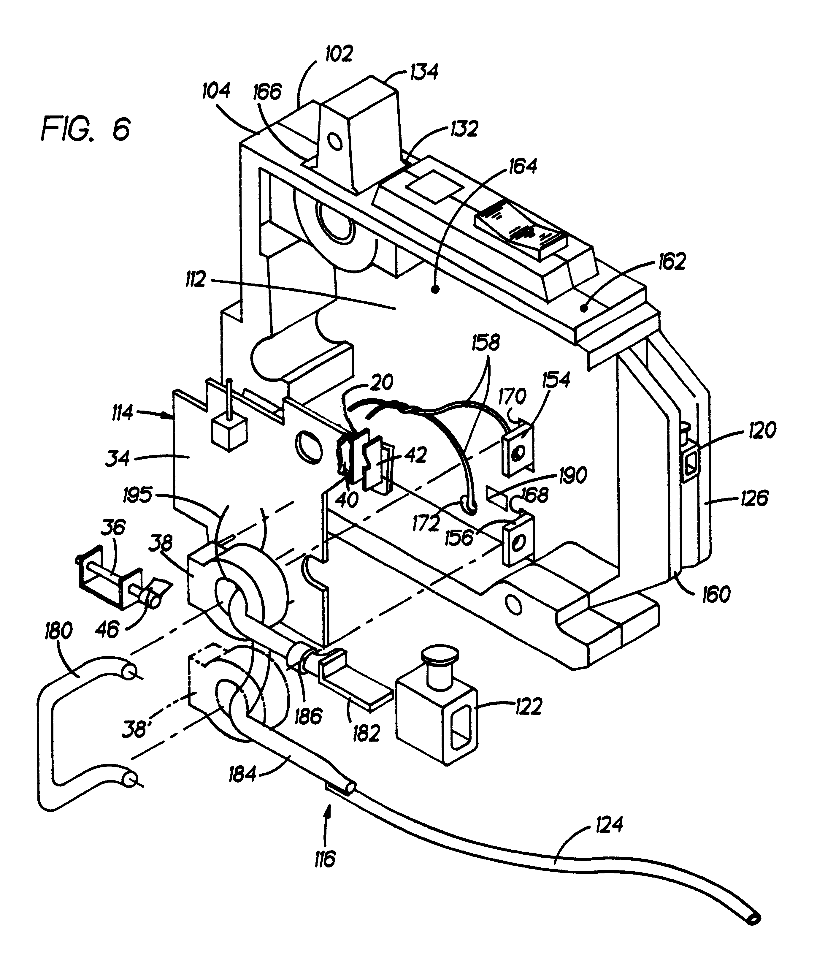 patent us6259340 - circuit breaker with a dual test button mechanism
