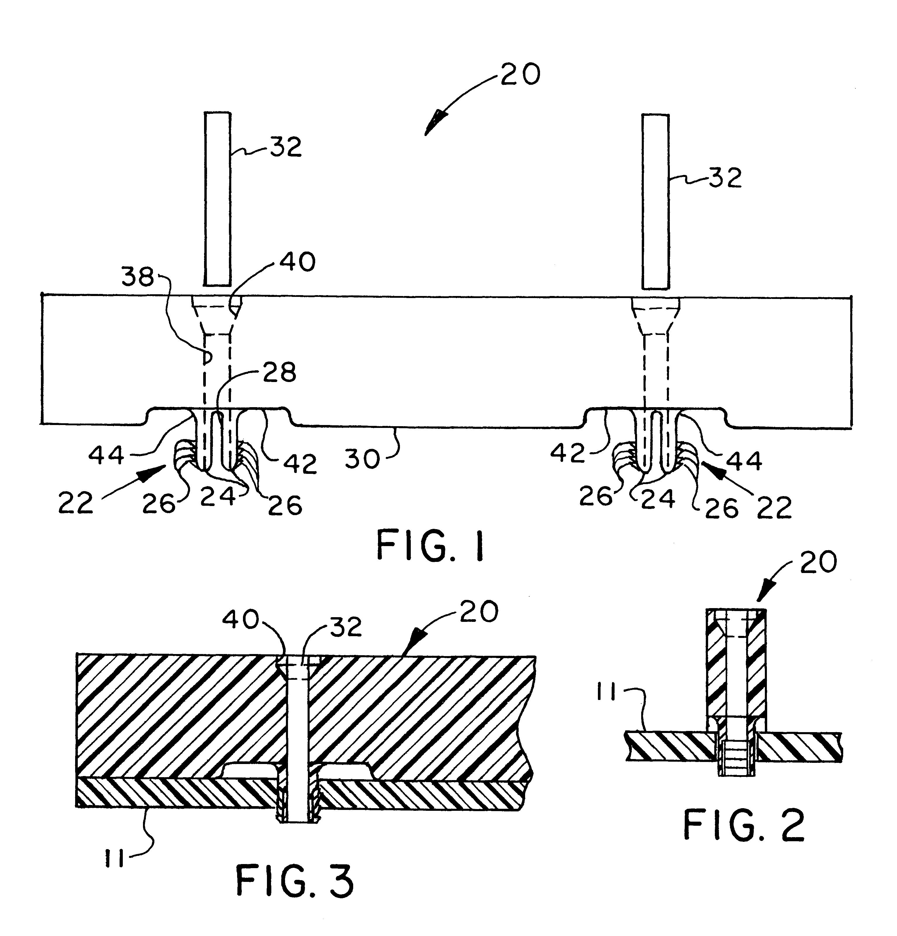 patent us6260265 - circuit board stiffener