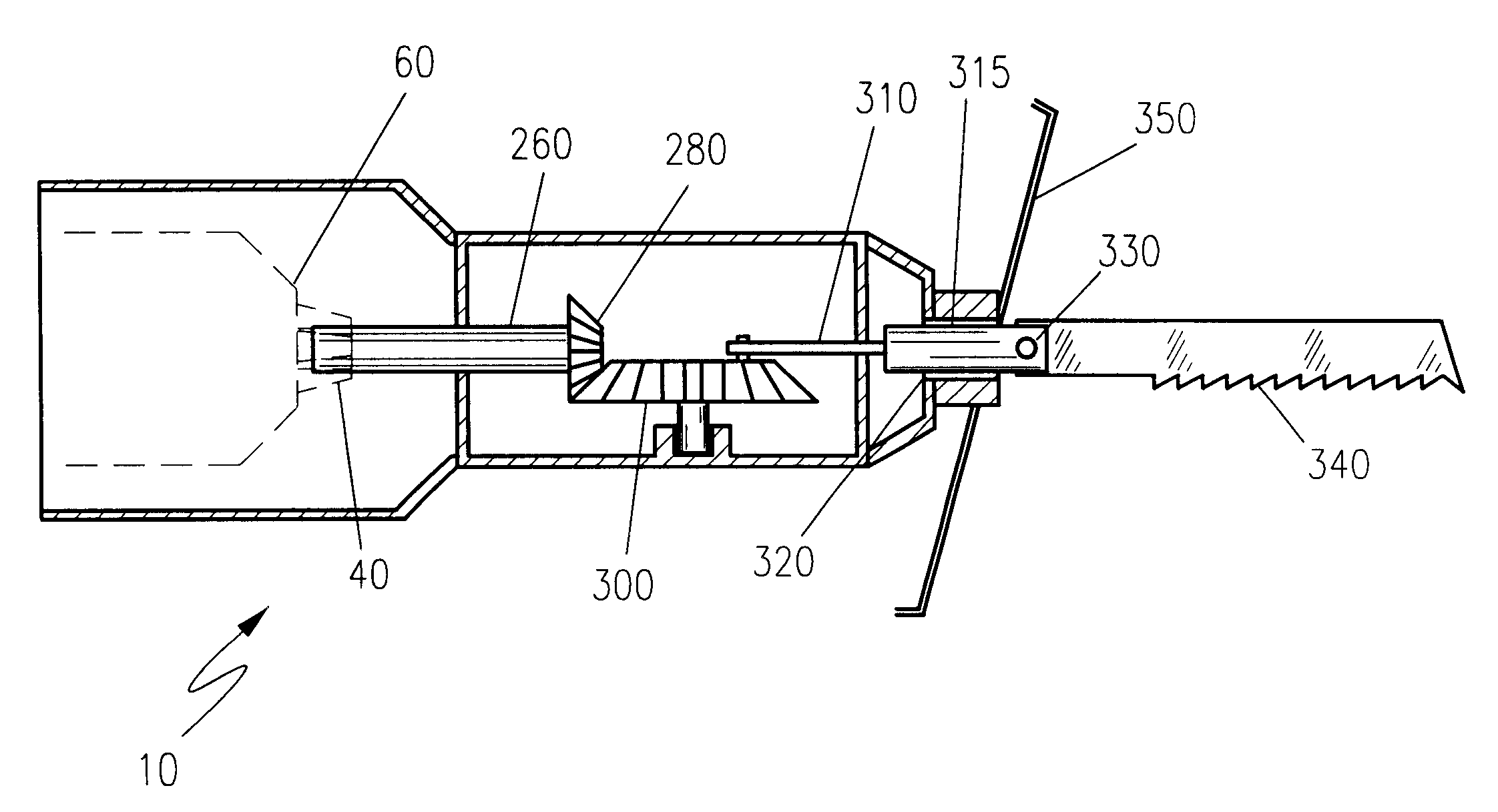 Reciprocating Gear Mechanism : Patent us reciprocating saw attachment for