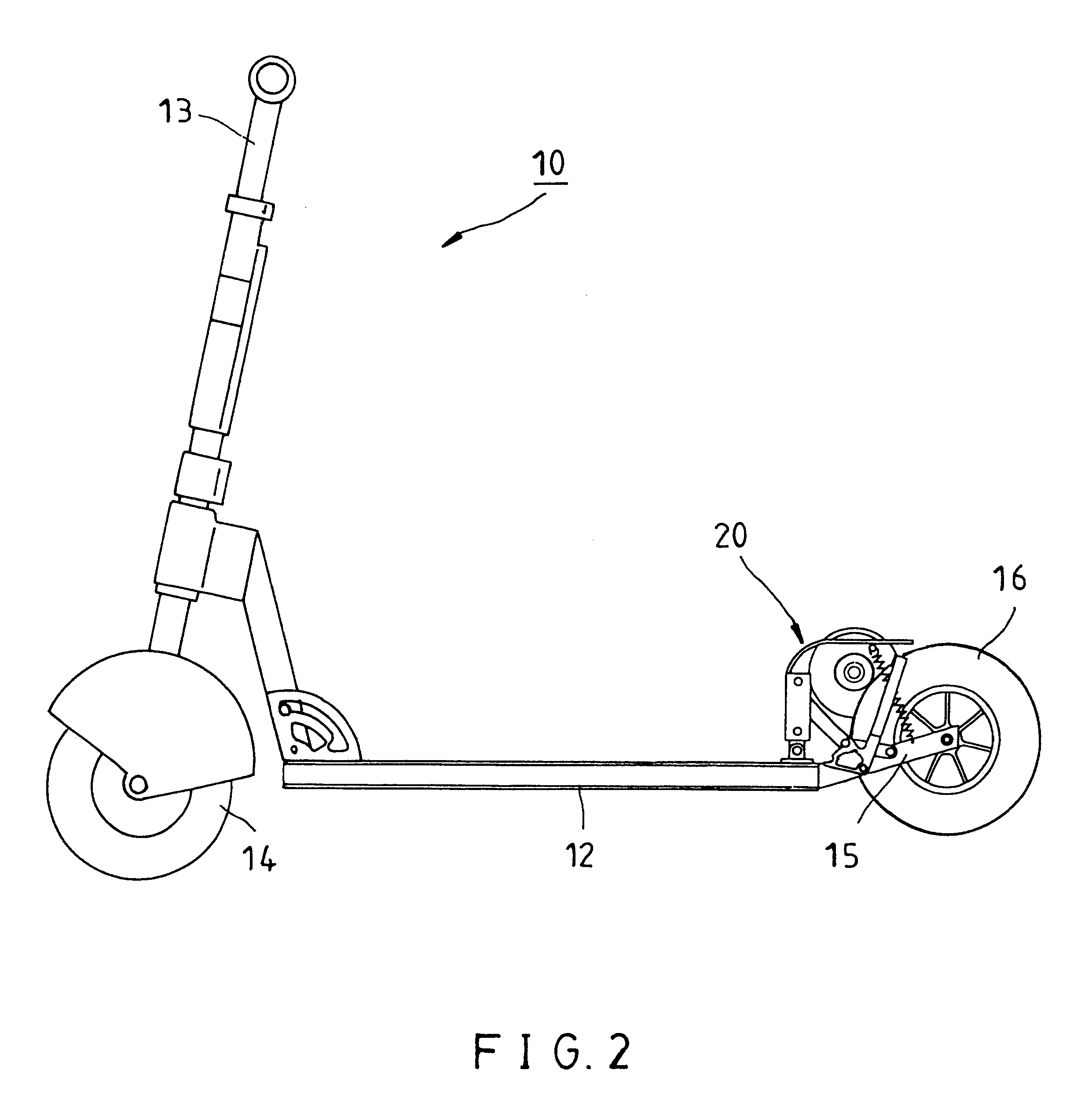 patent us6273205 - power clutch mechanism of scooter