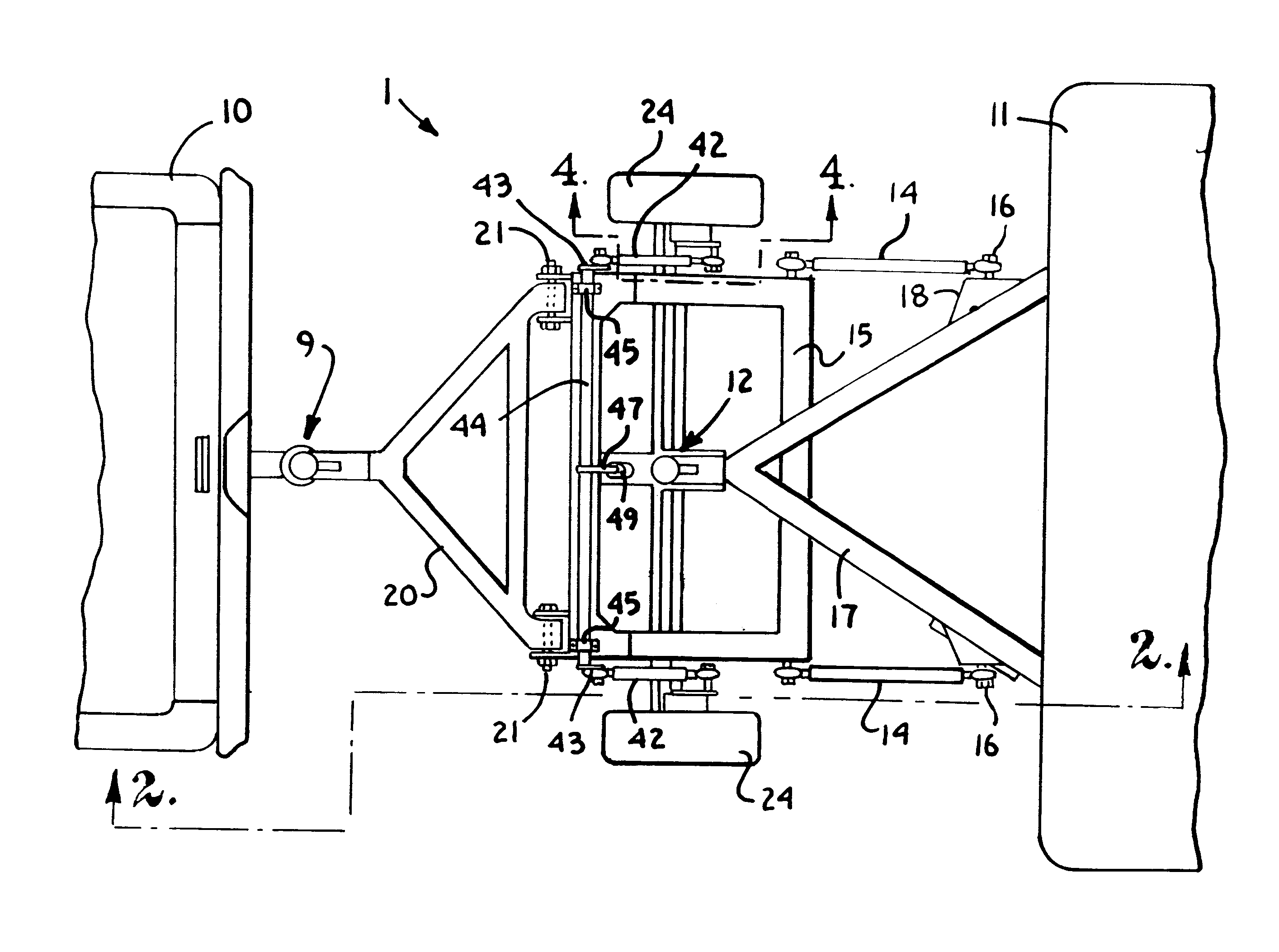 Patent Us6273447 - Trailer Support With Articulating  Free Castering Wheels