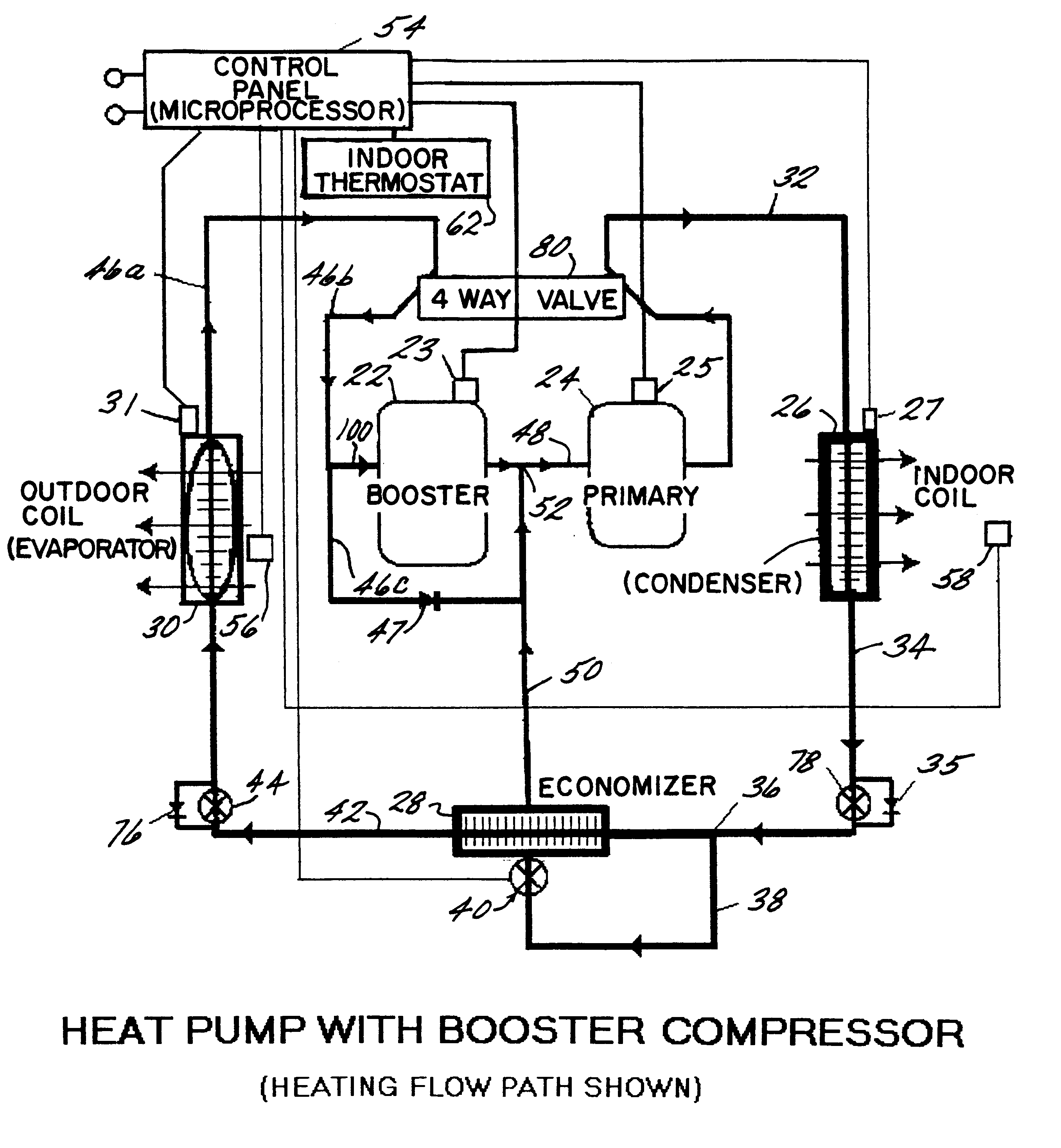 patent us6276148 - boosted air source heat pump