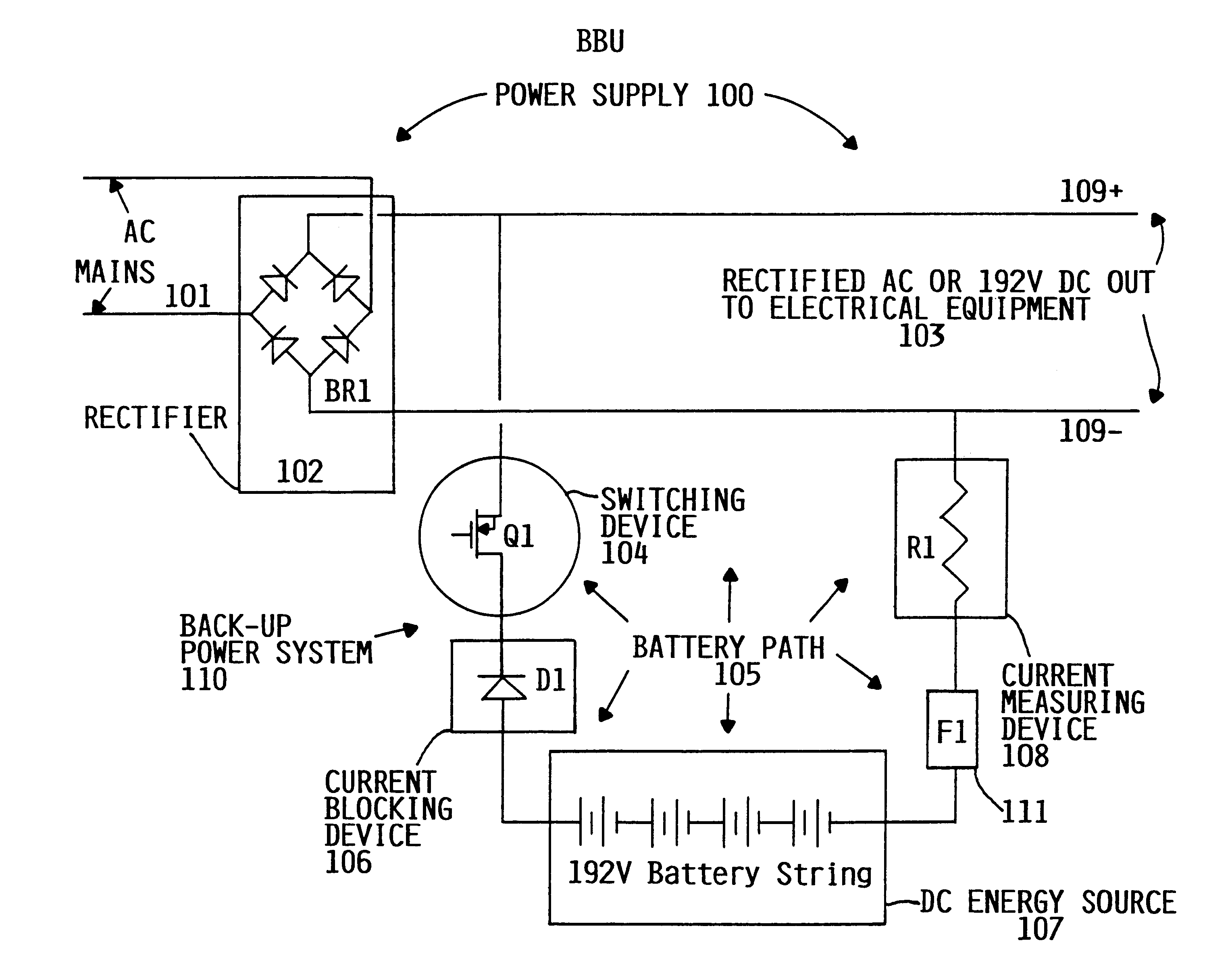 Brevet Us6278279 Path Test For A Dc Battery Back Up System The Current From Is Direct Patent Drawing