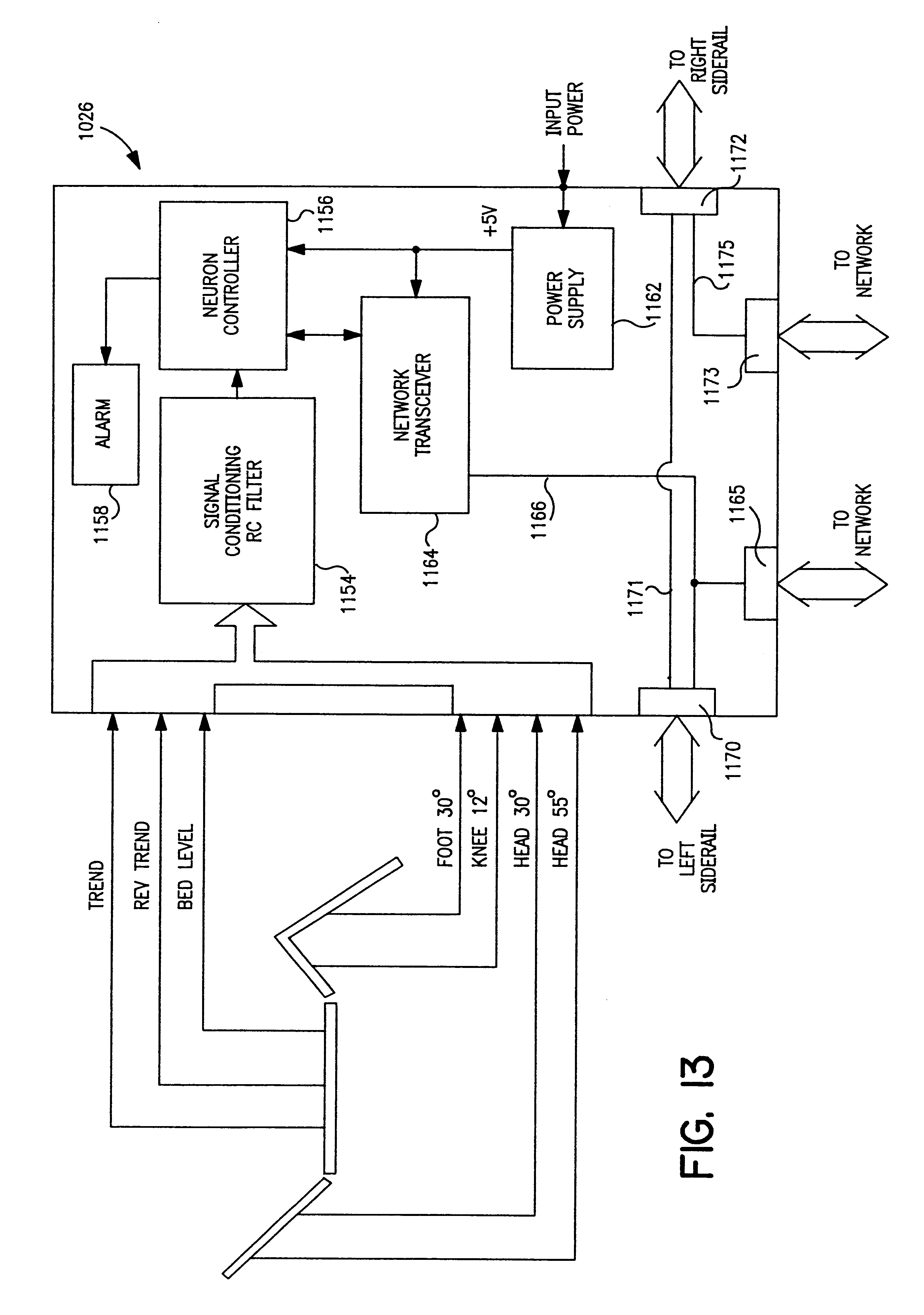 Patent Us6279183 Communication Network For A Hospital Bed Google Remote Control Wiring Diagrams Drawing
