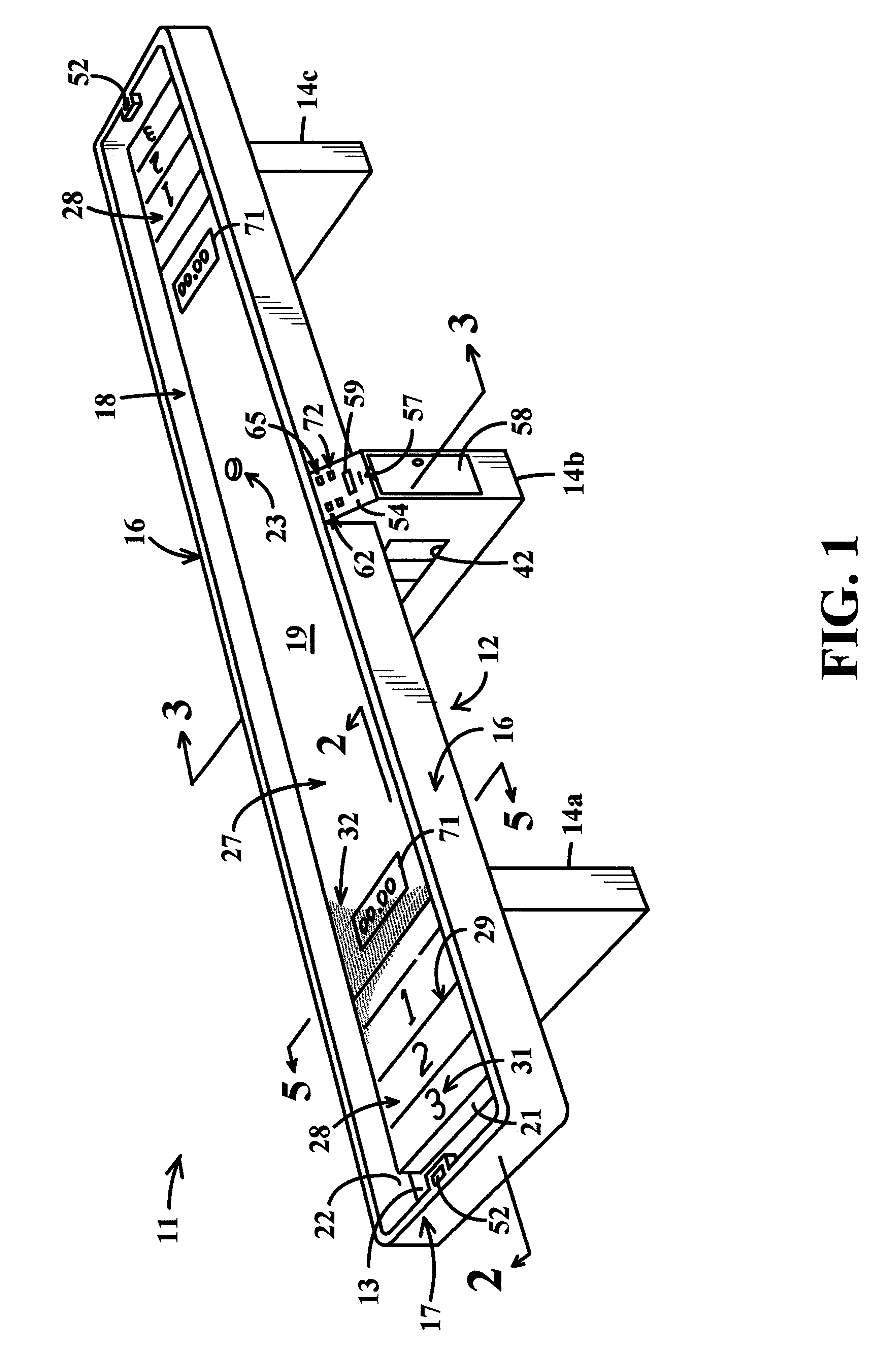 US06279905 20010828 D00001 patent us6279905 shuffleboard game with air cushion supported american shuffleboard wiring diagram at arjmand.co