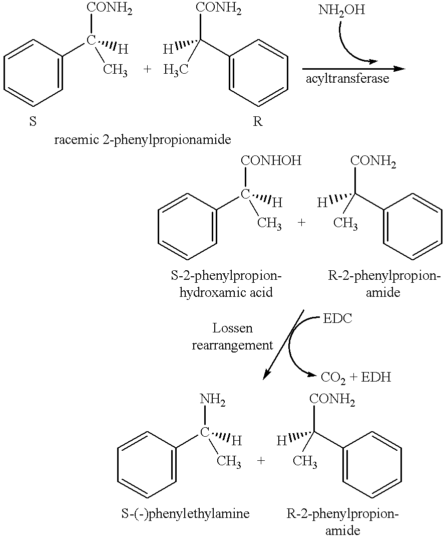 Synthesis and resolution of alpha-phenylethylamine
