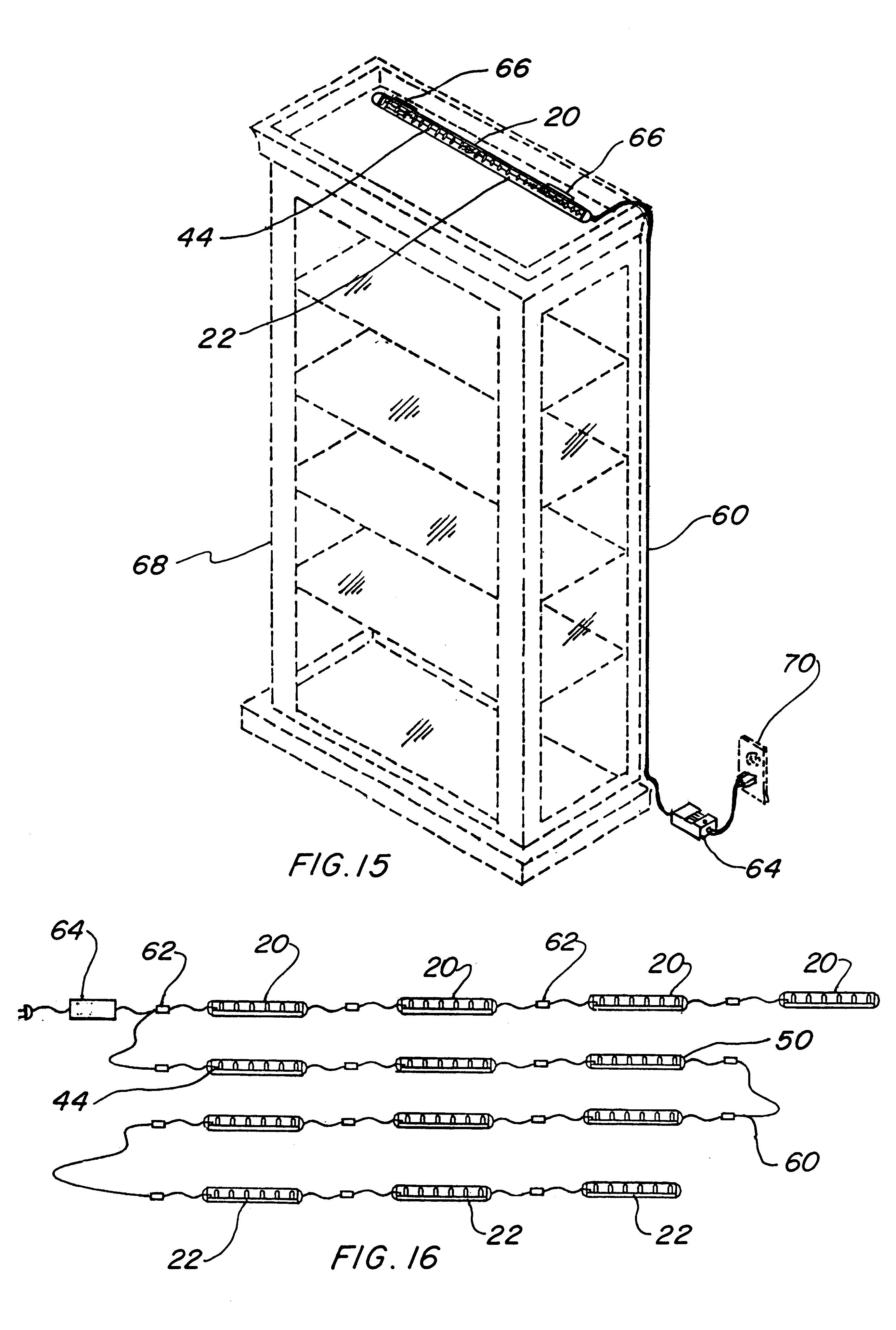 US06283612 20010904 D00003 patent us6283612 light emitting diode light strip google patents on kichler under cabinet lighting wiring diagram