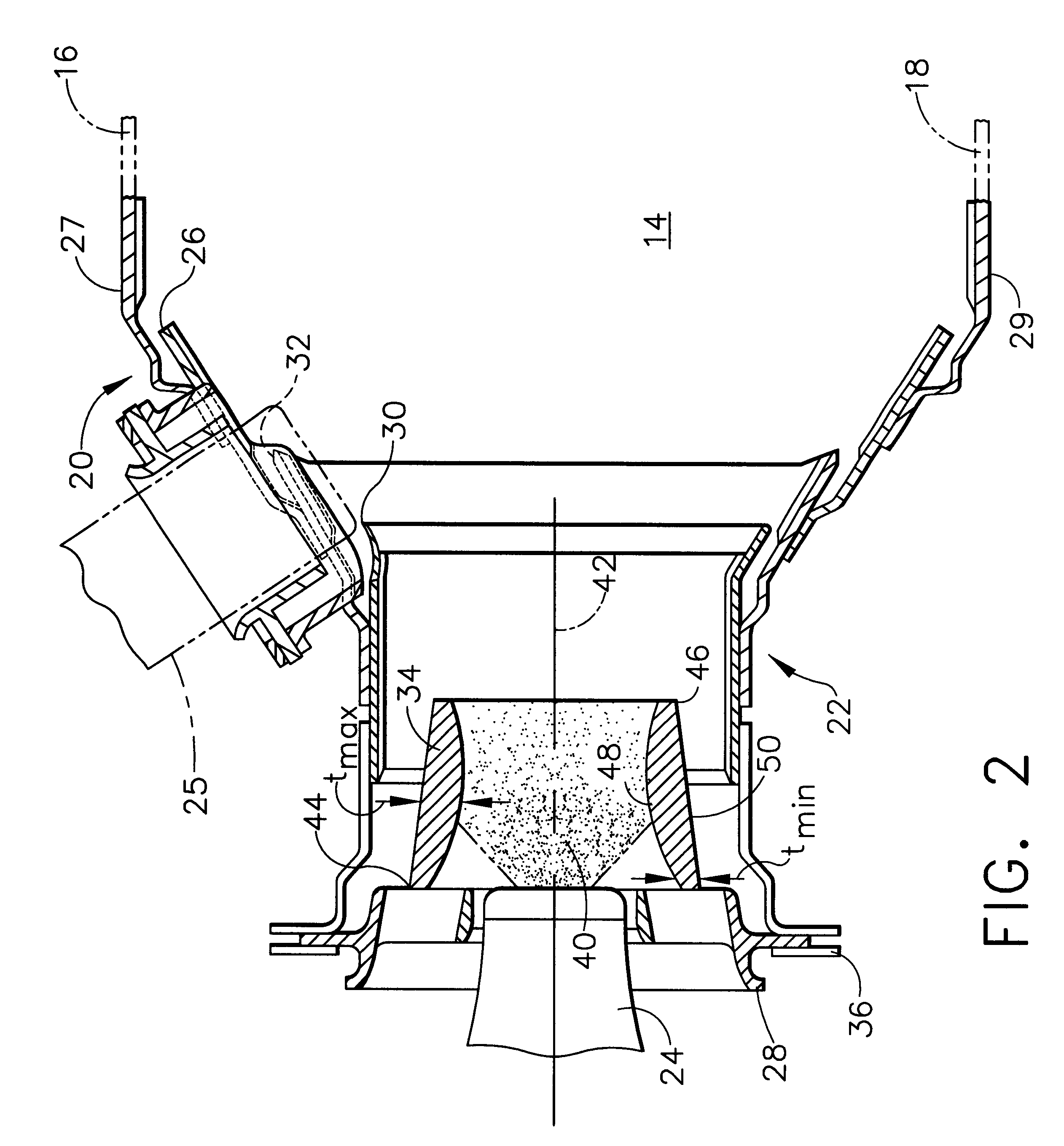 Patent US Venturi for use in the swirl cup package of a
