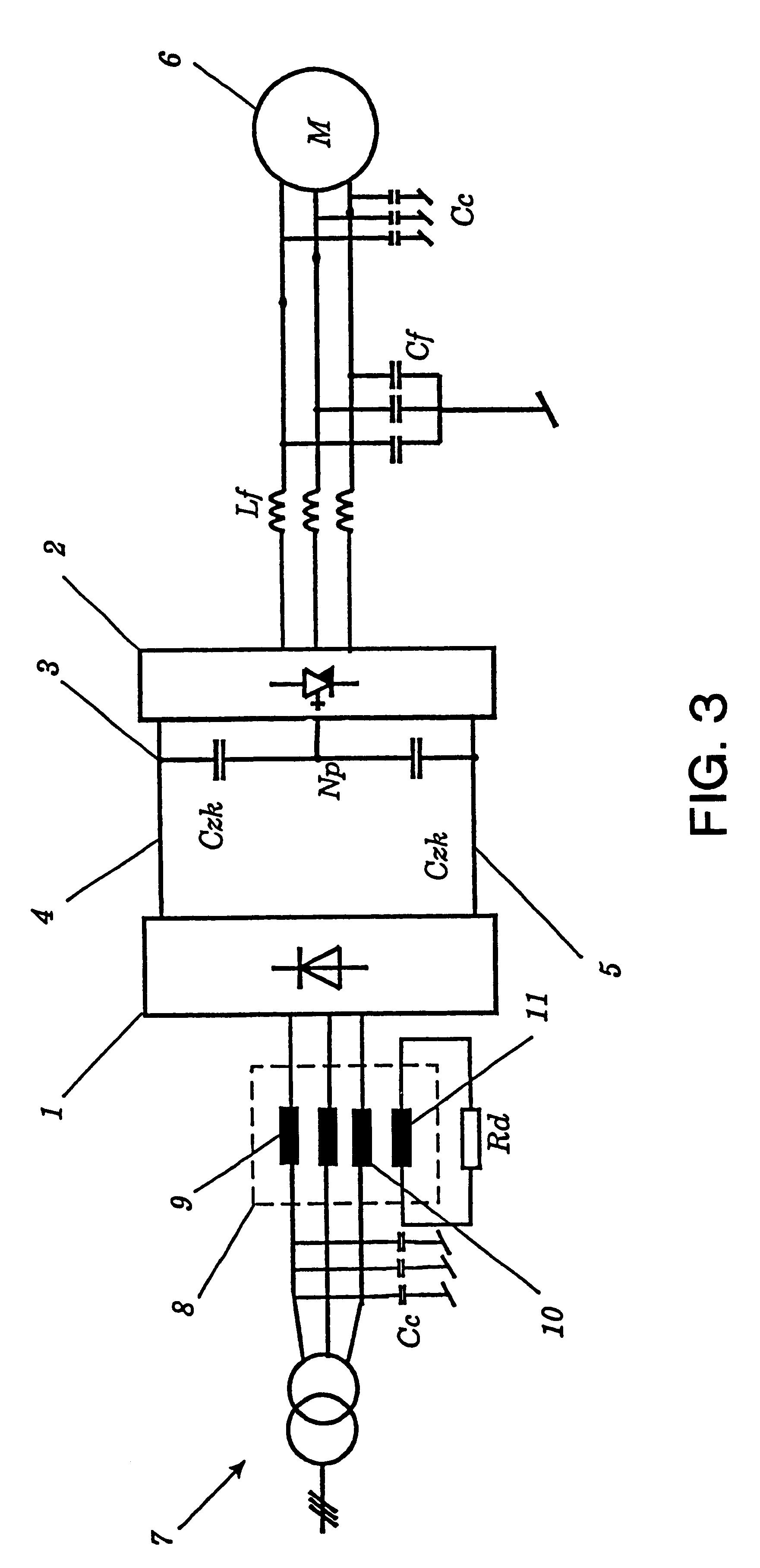patent us6288915 - converter circuit arrangement having a dc intermediate circuit