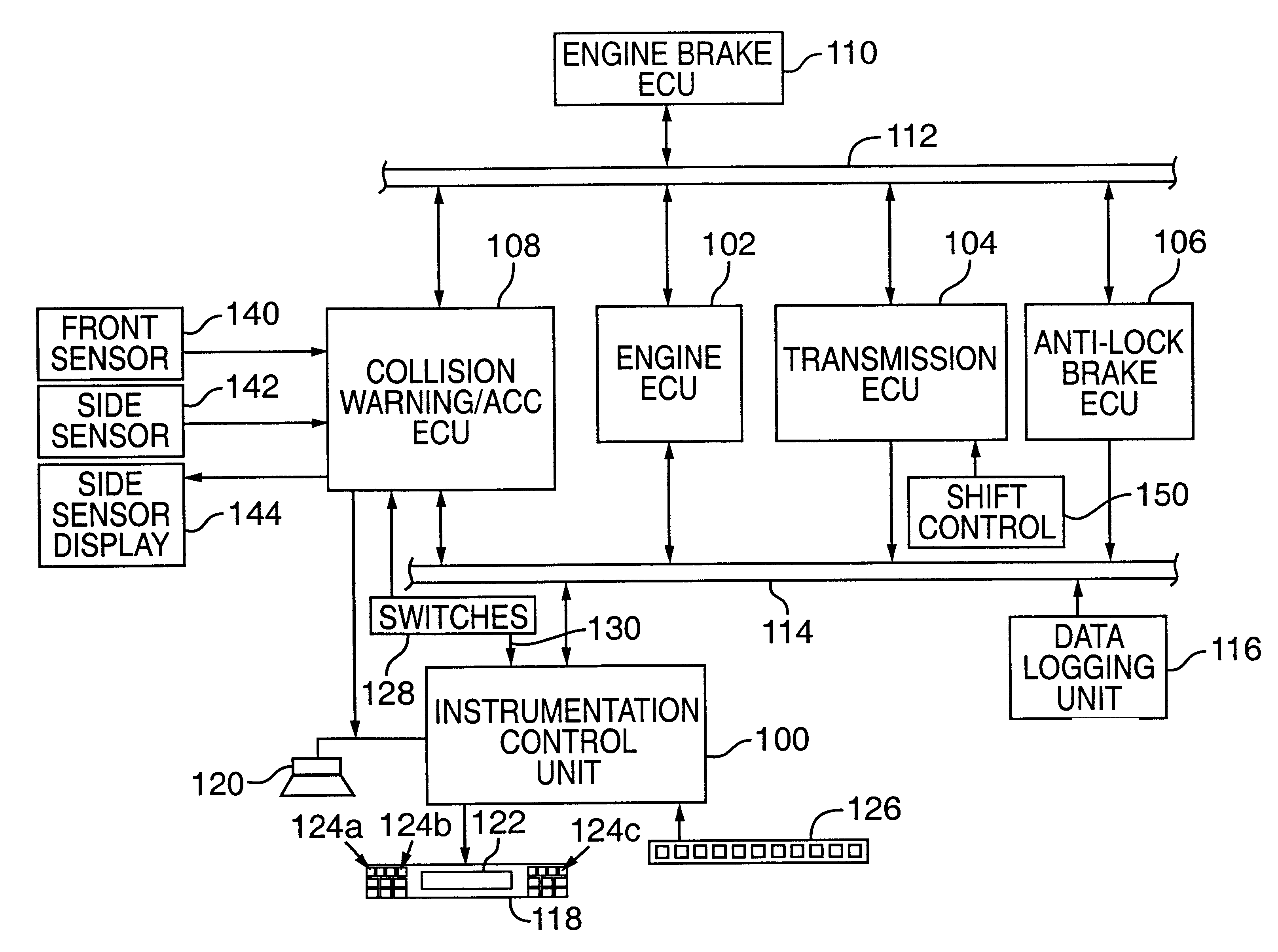US06289332 20010911 D00000 patent us6289332 integrated message display system for a vehicle eaton autoshift wiring diagram at panicattacktreatment.co
