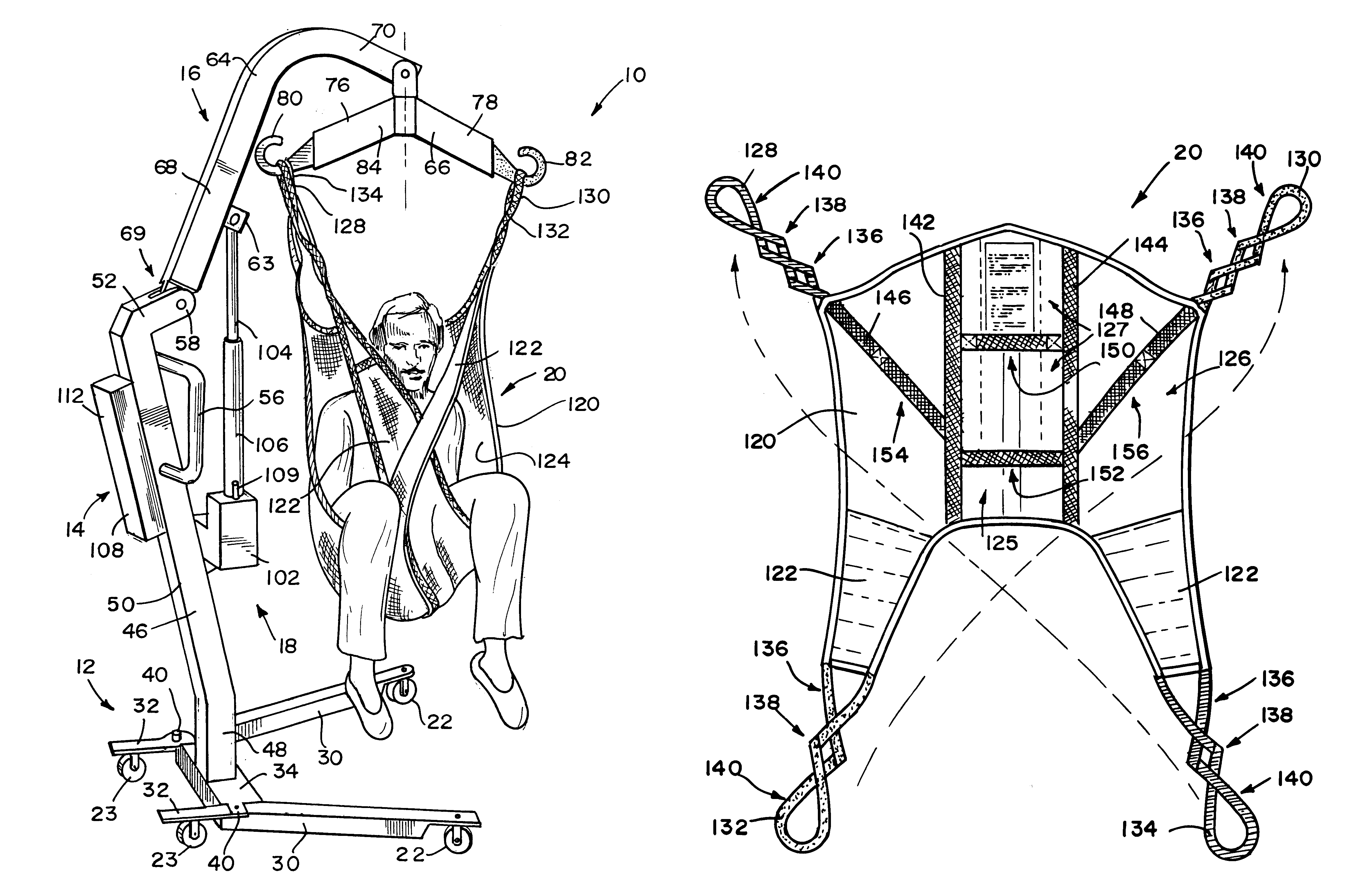 patent us6289534 - patient lift
