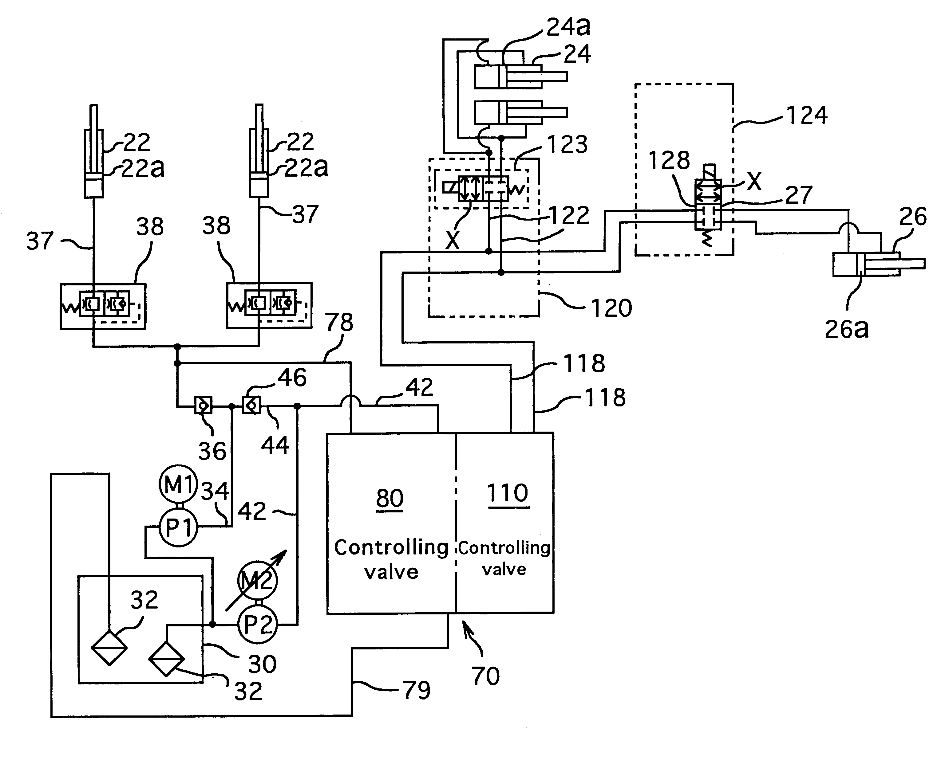 patent us6293099 - hydraulic circuit for forklift