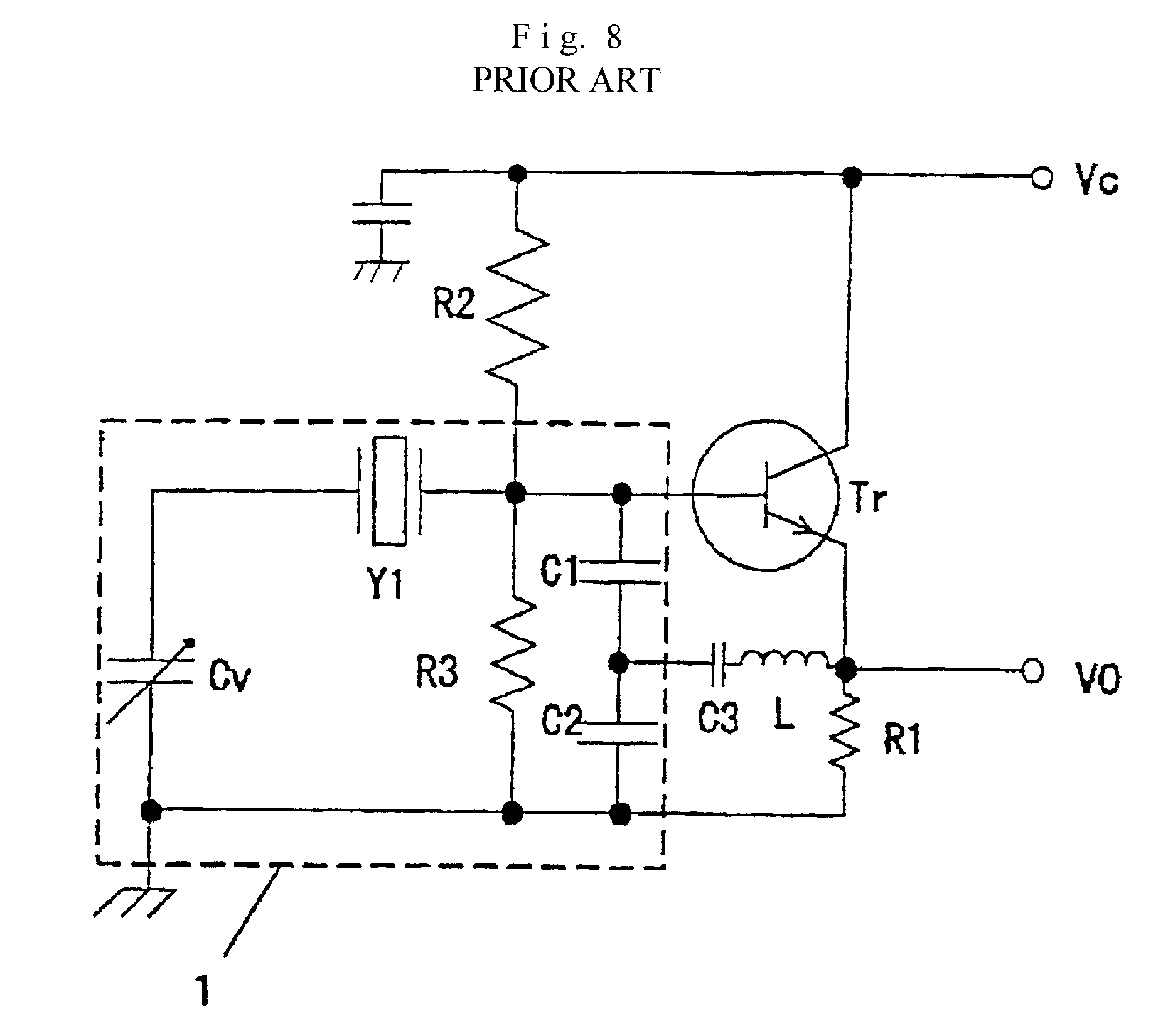 patent us6294964 - high-stability piezoelectric oscillator