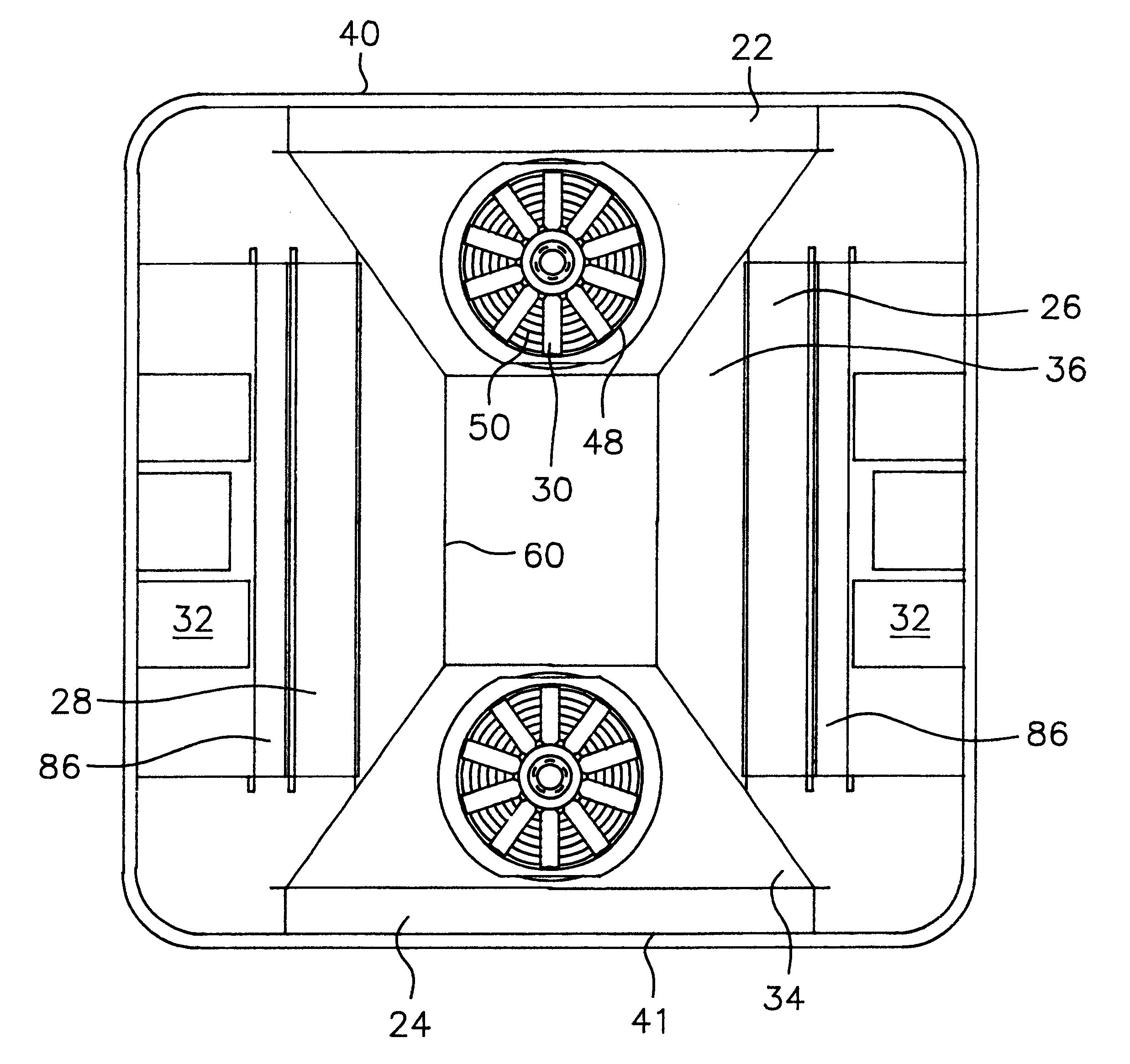 Patent US6295826 - Self-contained rooftop HVAC unit - Google Patents