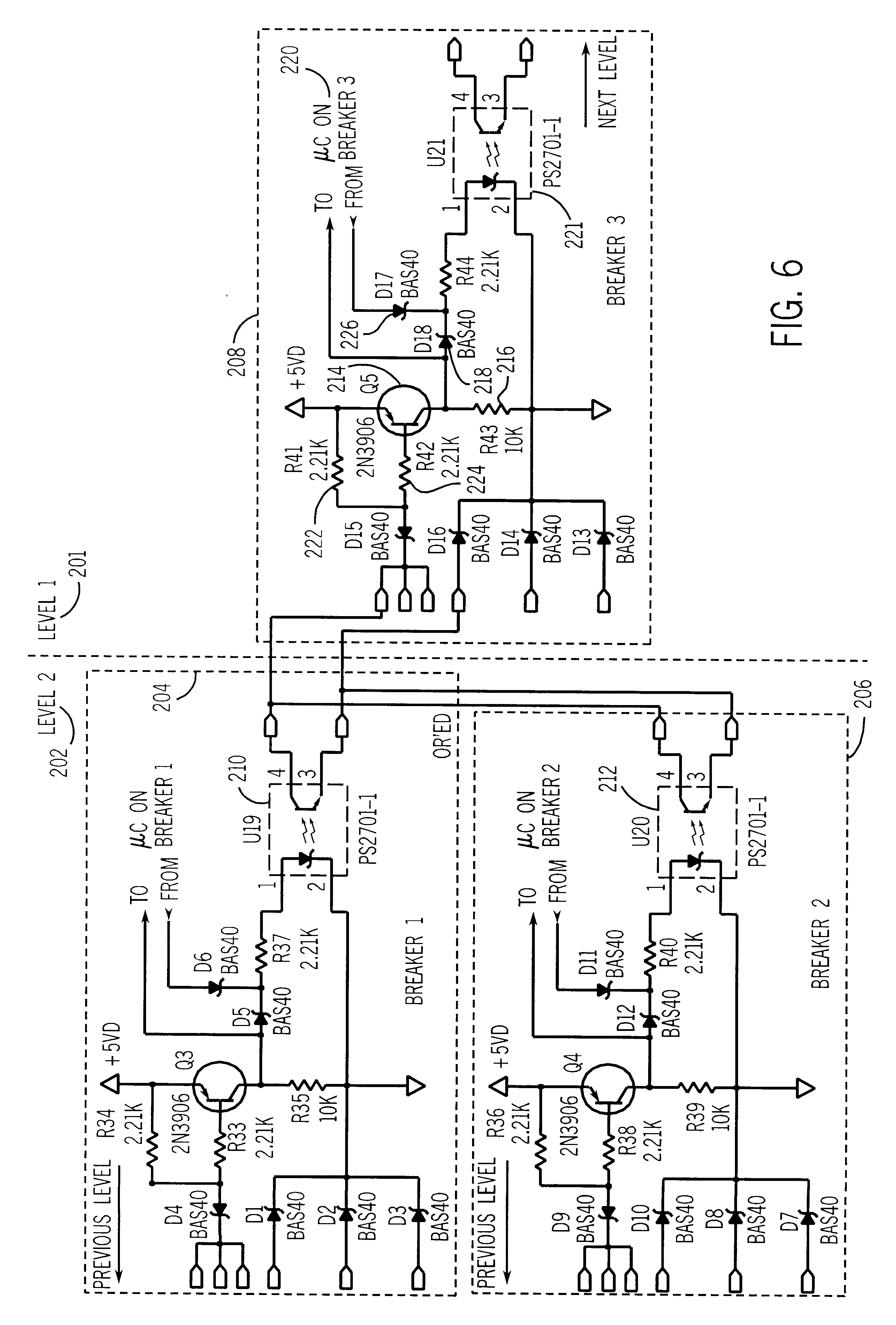 patent us6297939 - zone selective interlock for a circuit breaker system