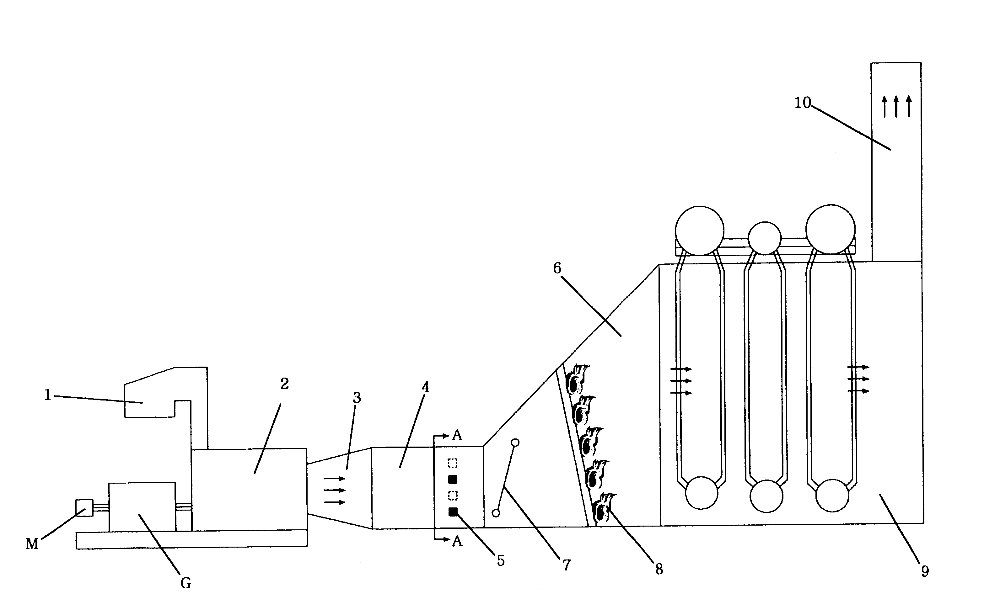 Patent US Air supply duct for heat recovery steam