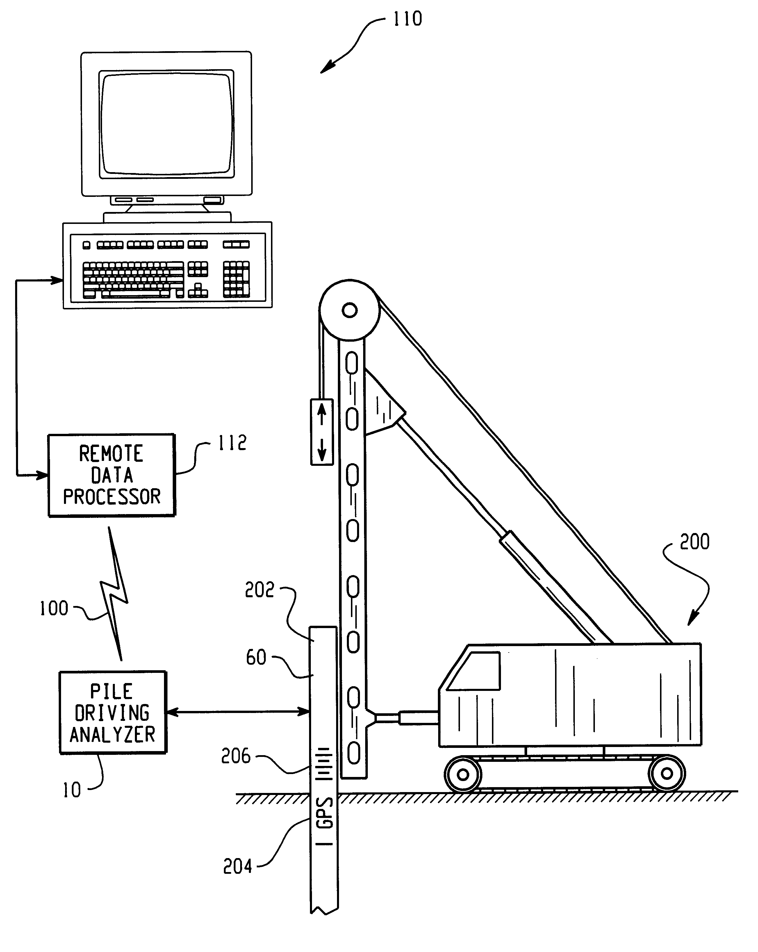 patent us6301551 - remote pile driving analyzer
