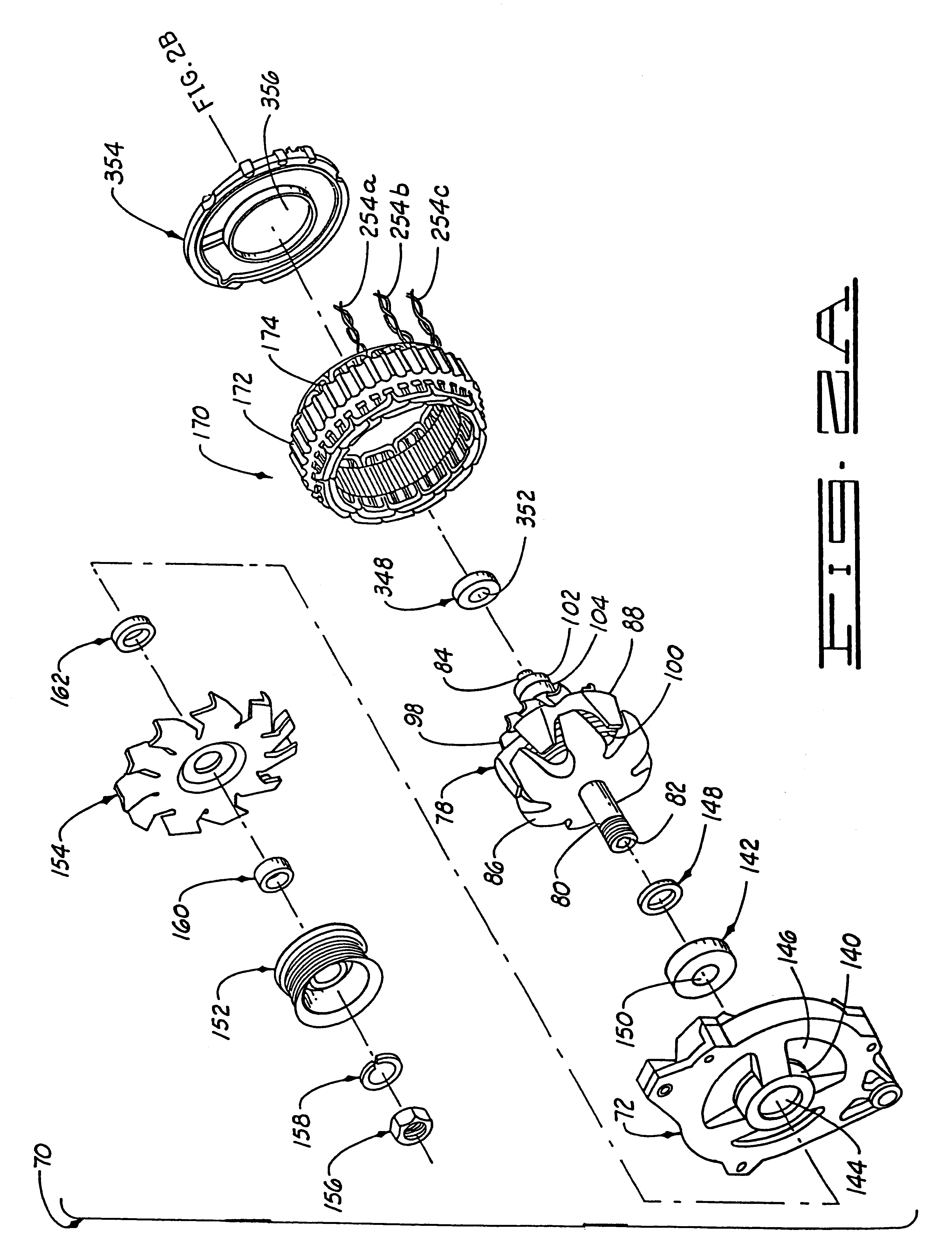 patent us6304012 - alternator