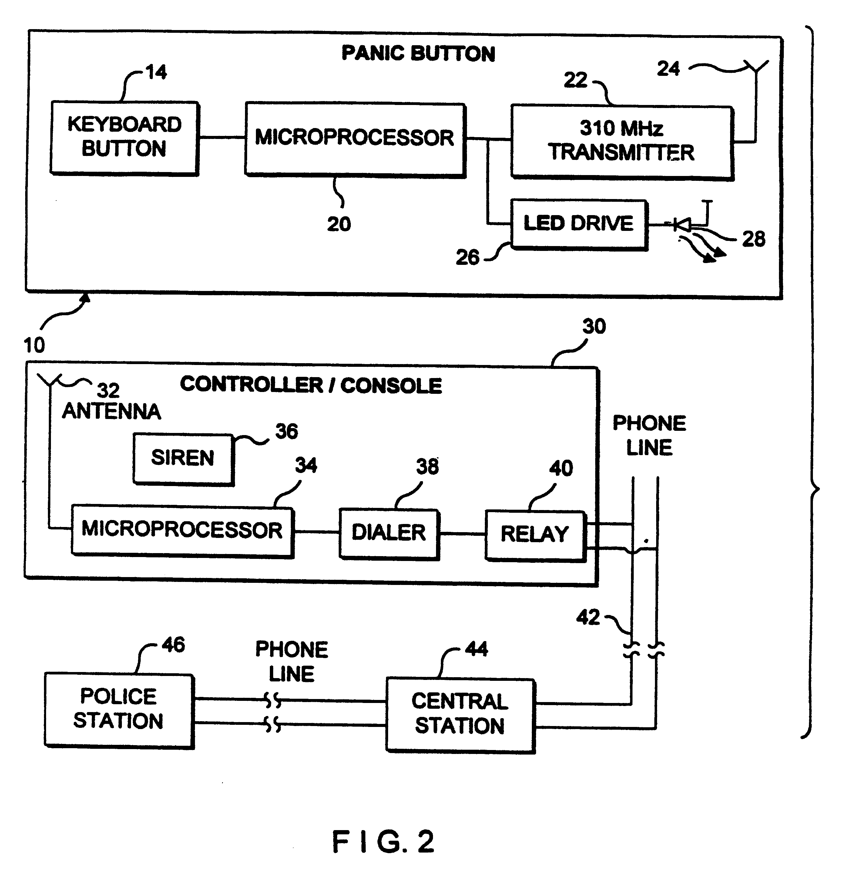 patent us6310539 panic button security alarm system patents