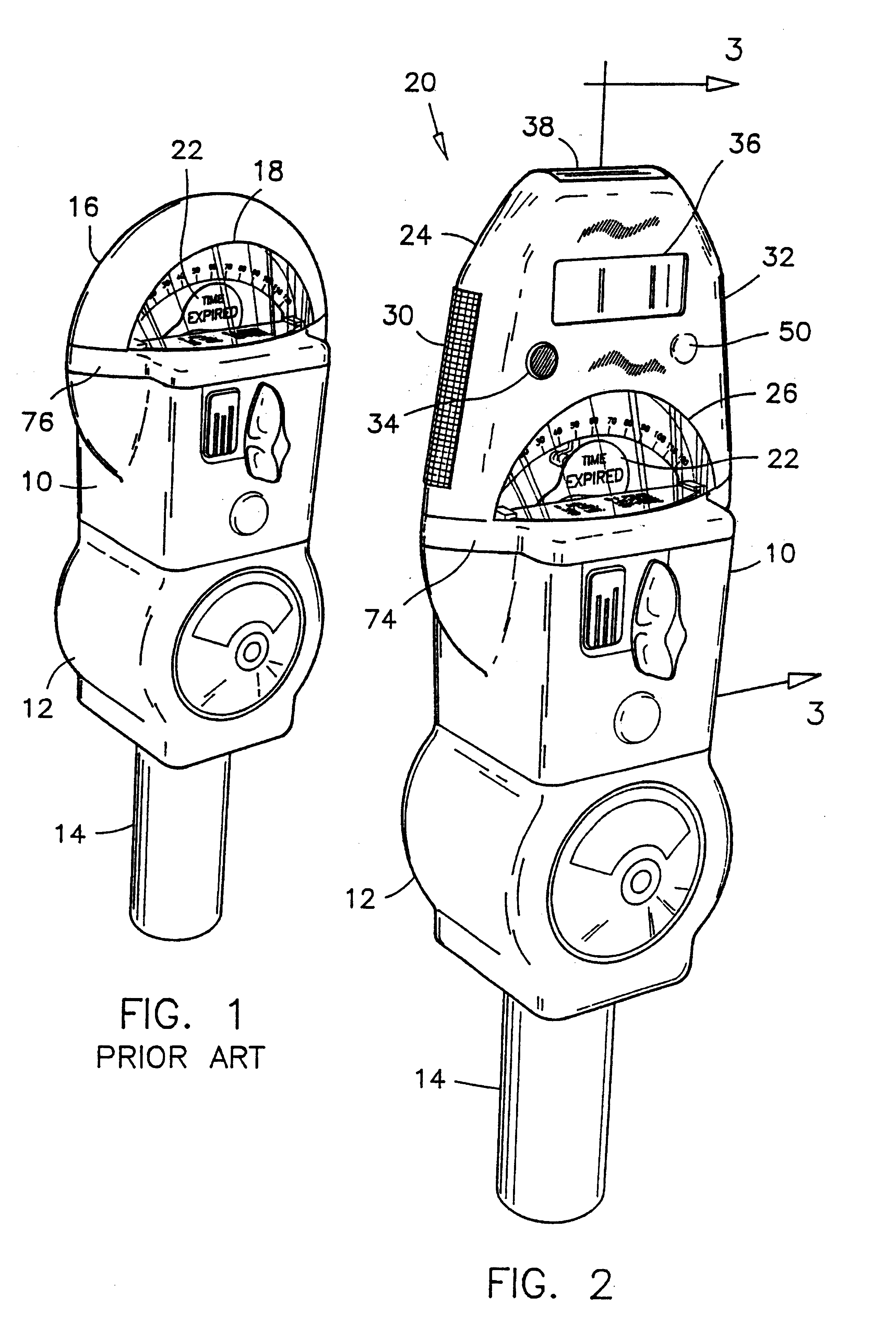 patent us6312152 - electronic module for conventional parking meter