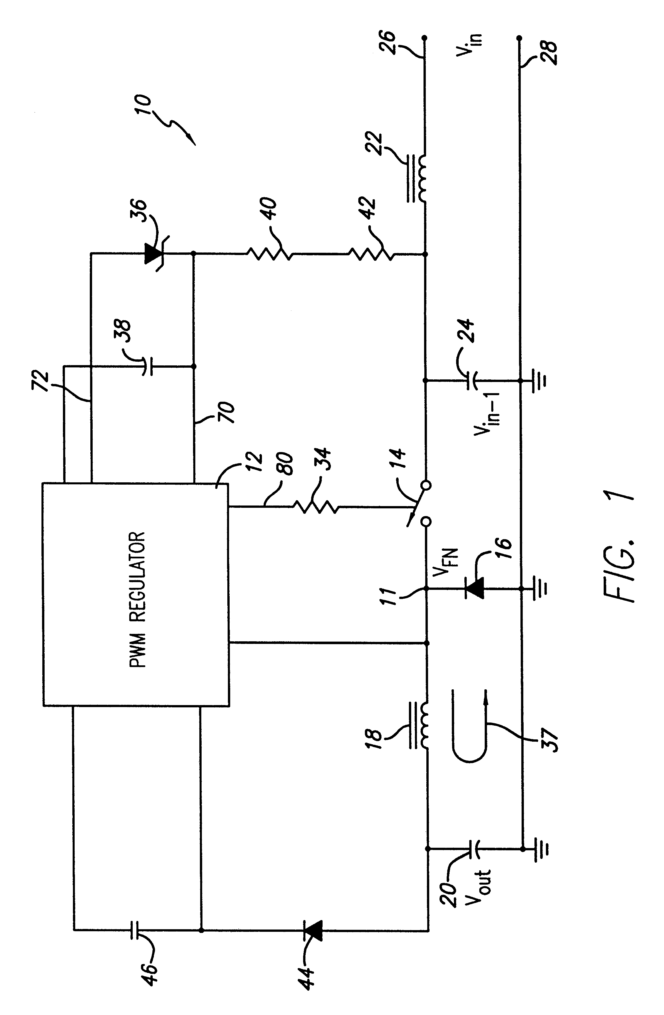 Patent Us6313616 Switching Buck Converter With Floating Regulator Diagram Together 555 Timer Circuit In Addition Capacitor Drawing