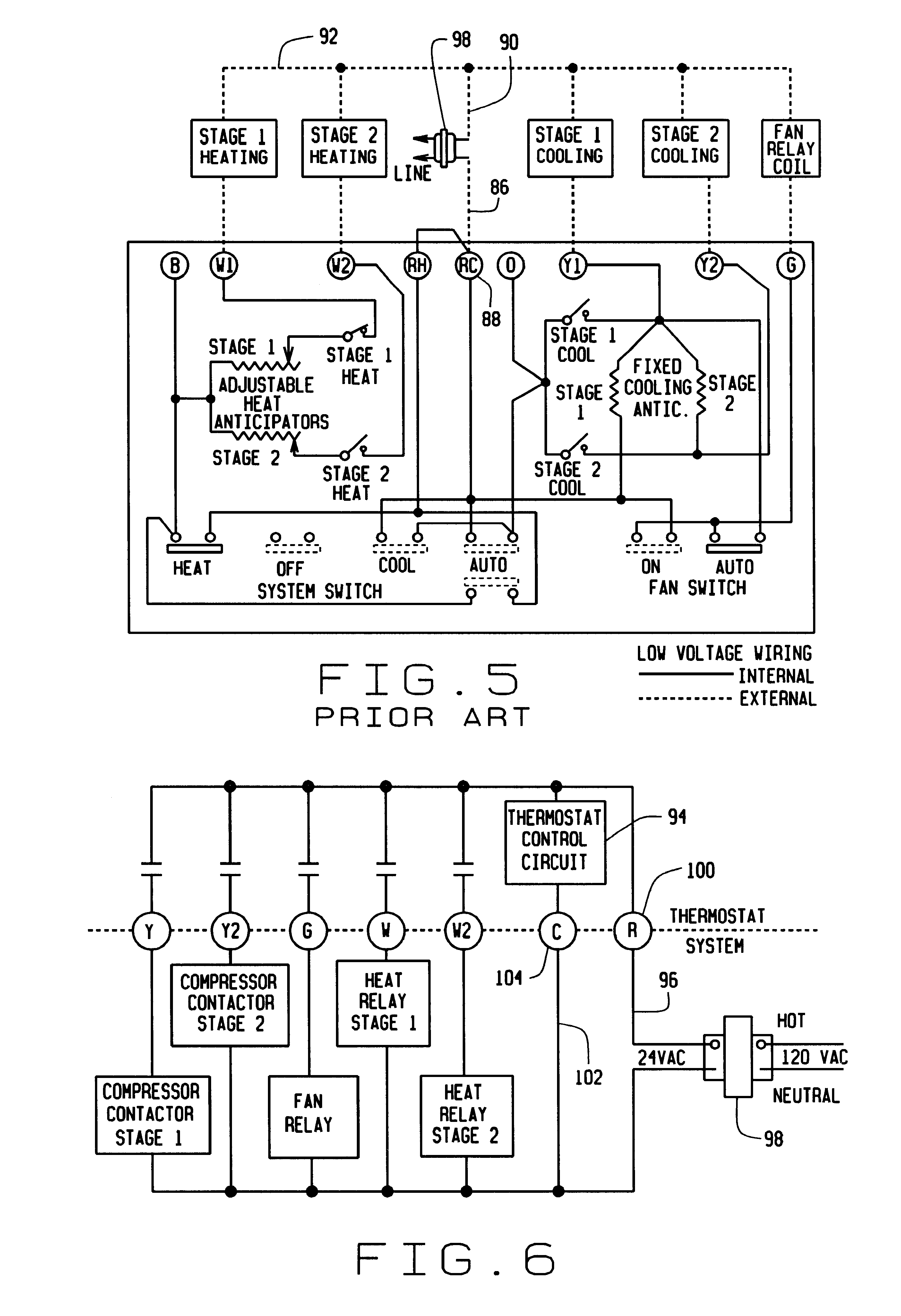 US06315211 20011113 D00003 patent us6315211 hardwired or battery powered digital thermostat on columbus electric thermostat wiring diagram