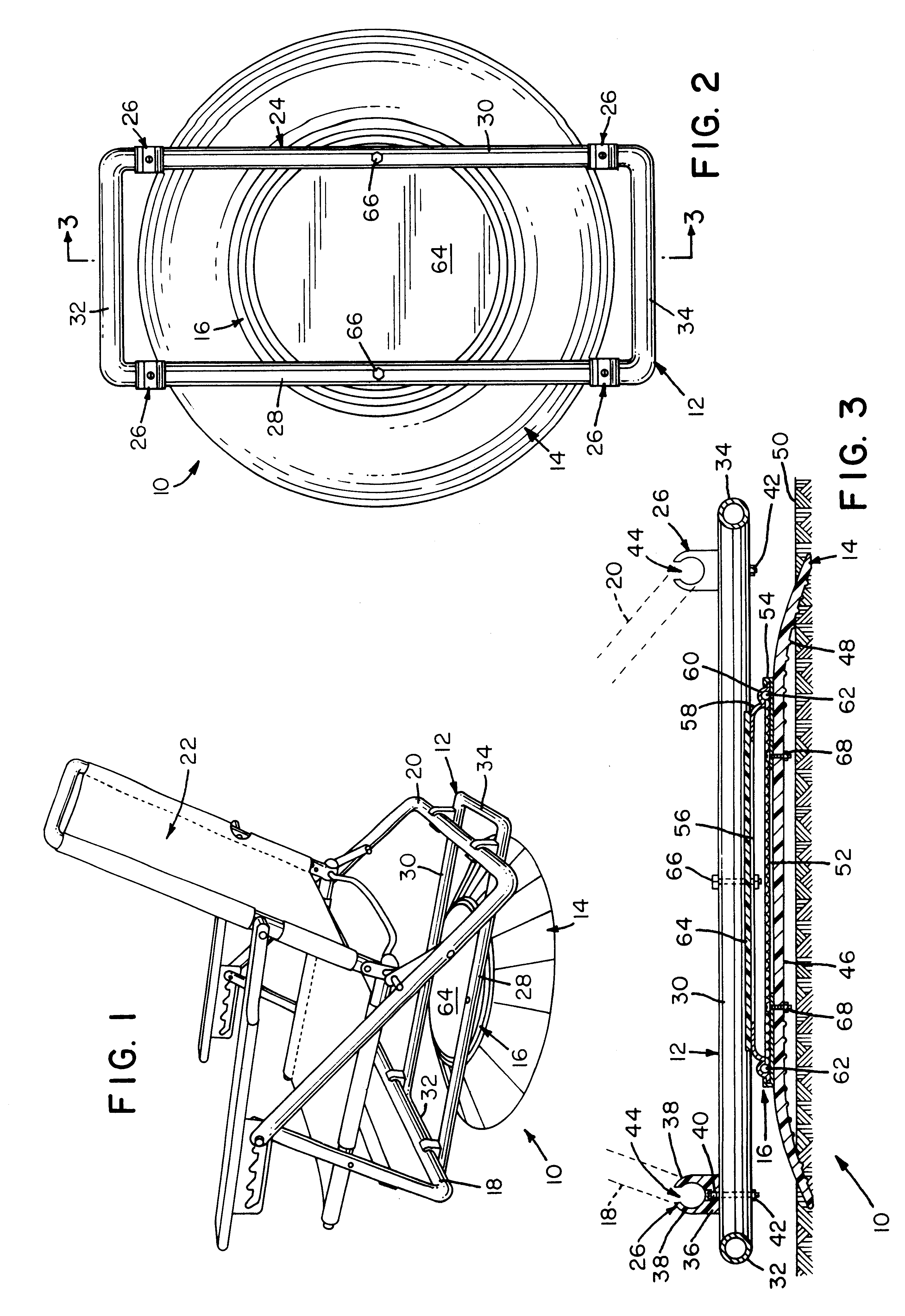 Patent US6315360 - Detachable swivel apparatus for a beach chair ...
