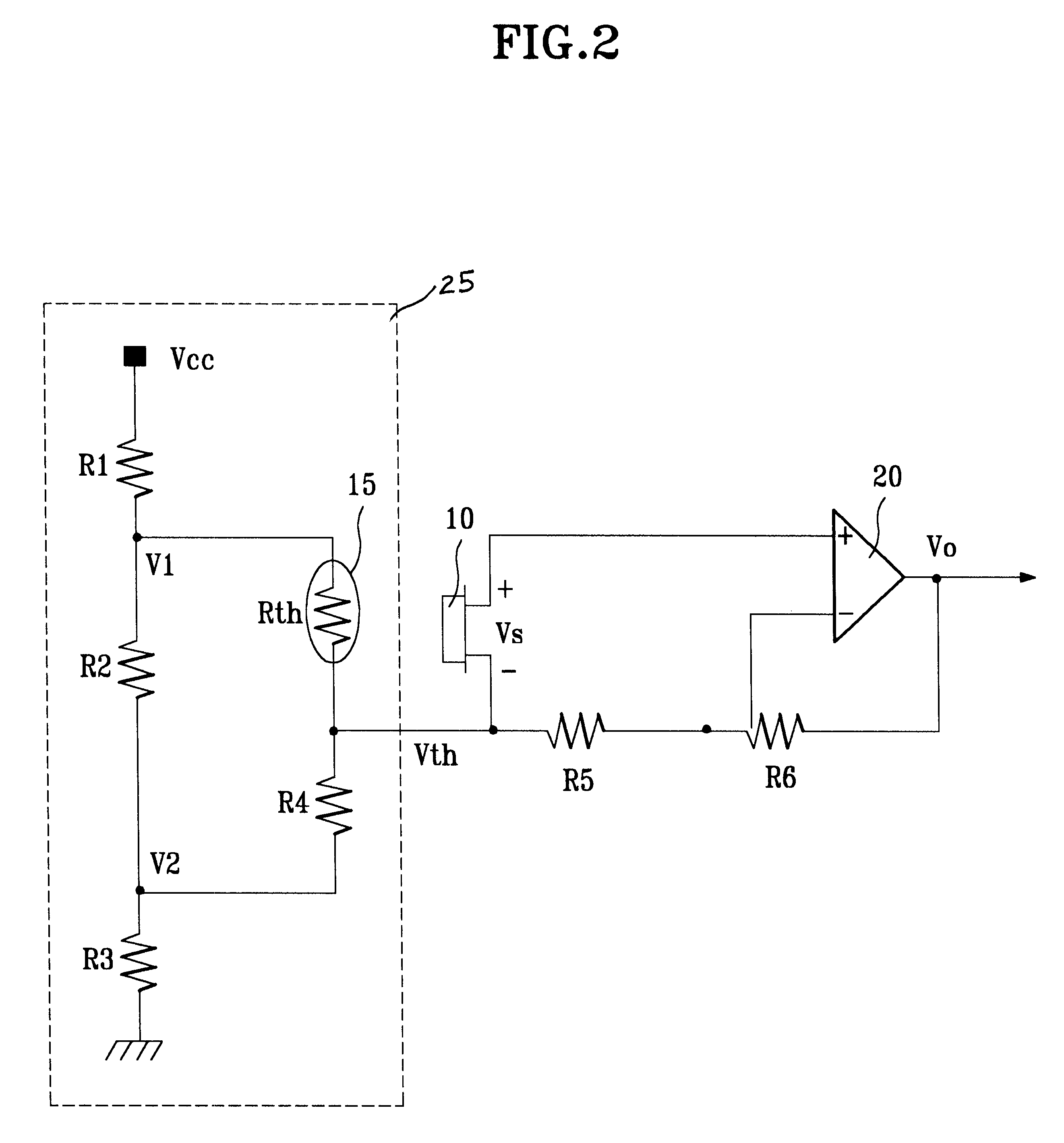Patent Us6320450 Temperature Sensing Circuit Using Thermopile Thermistor Drawing