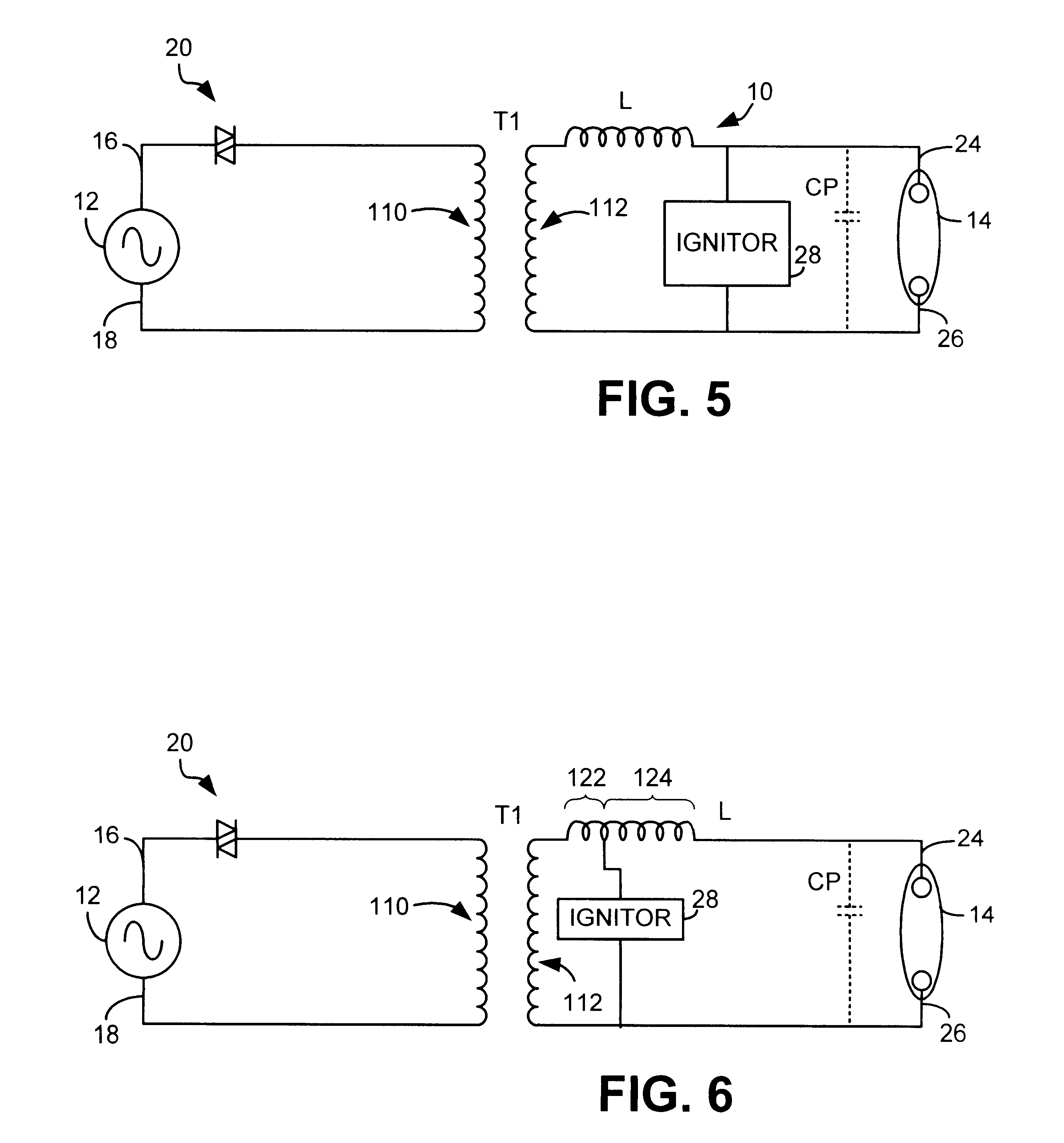 patent us6323603 resonant flyback ignitor circuit for a gas on discharge lamp wiring diagram