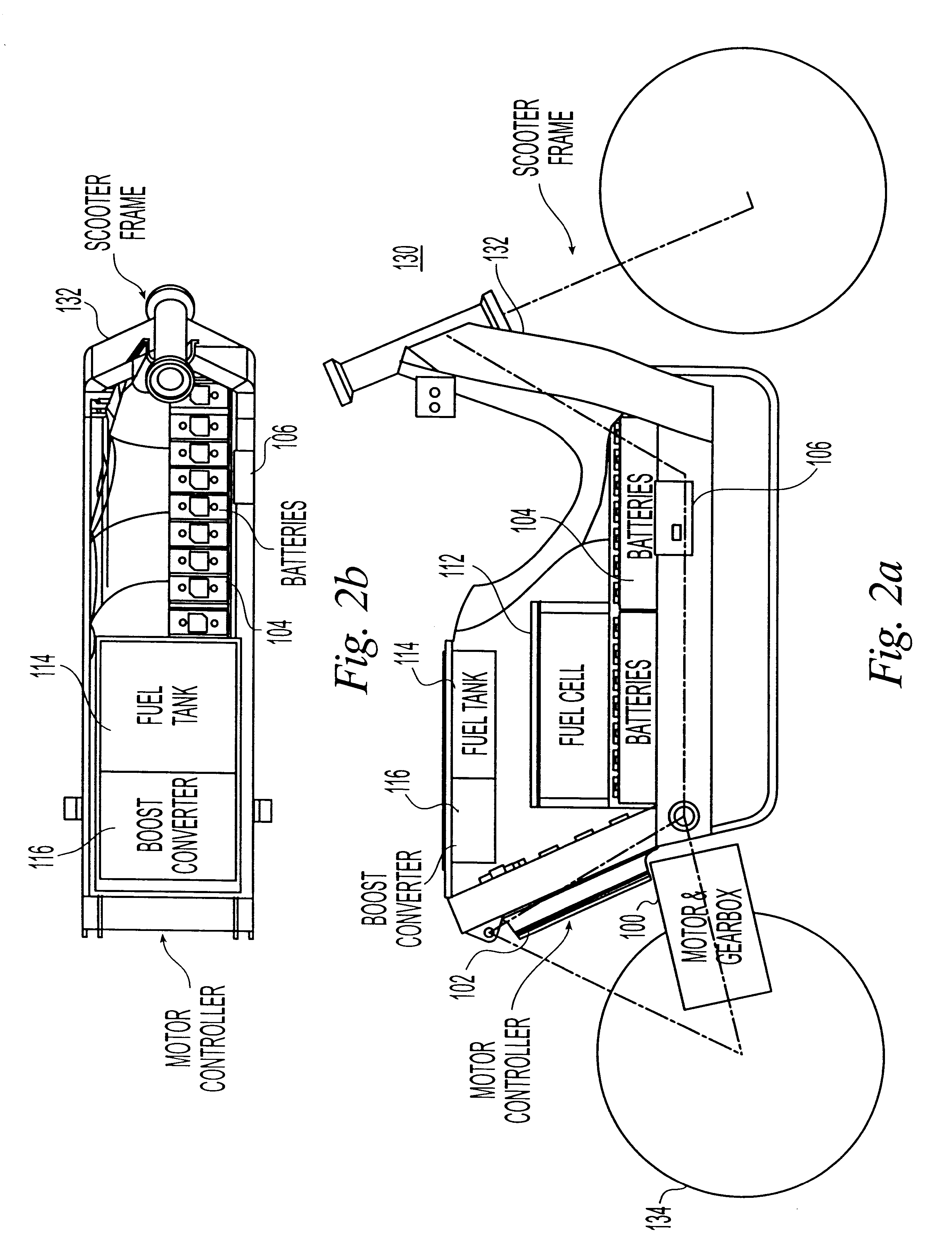 patent us6326765 - electric scooter with on-board charging system