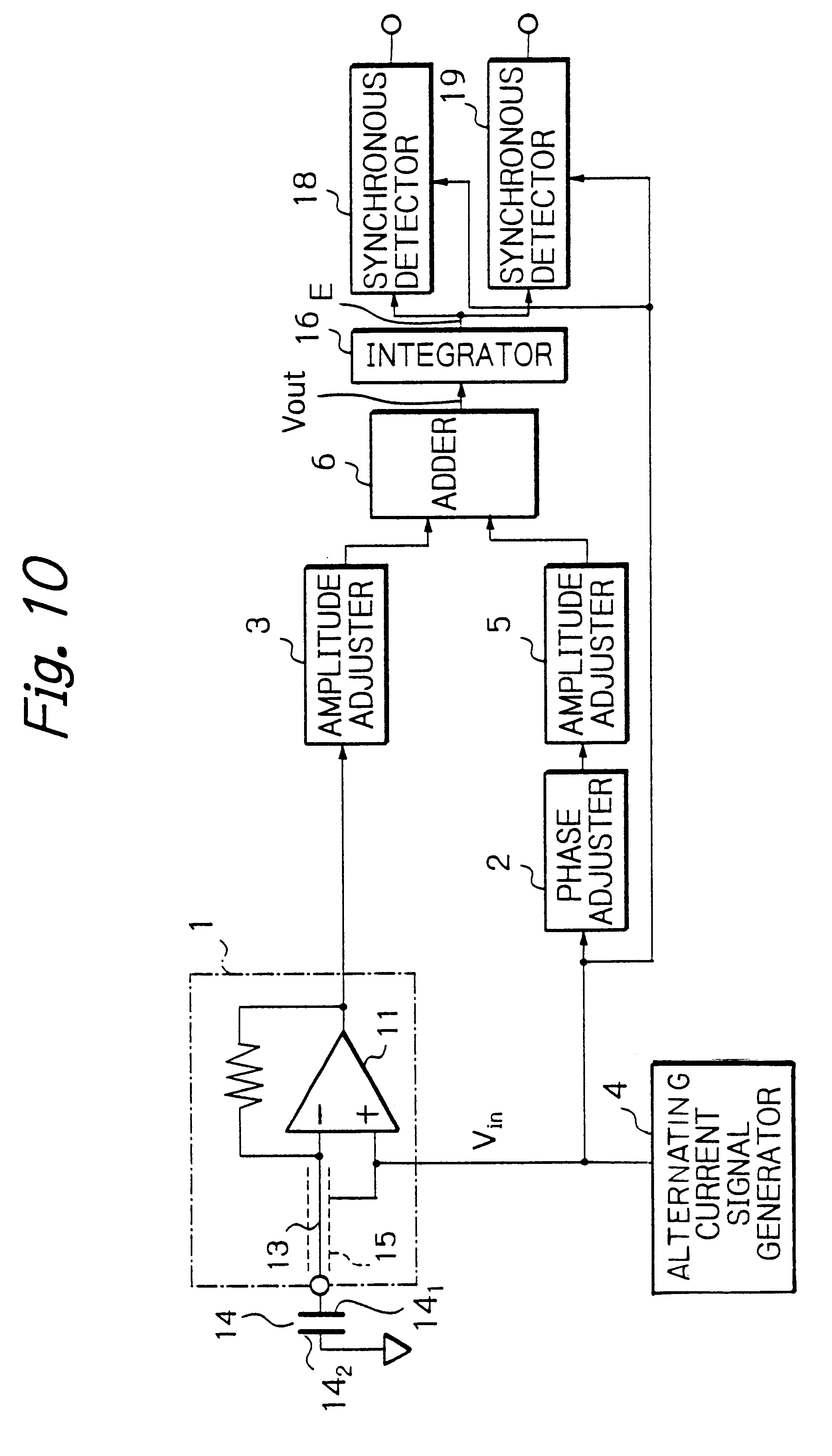 Patent Us6331780 Static Capacitance To Voltage Converter And Alternating Current Diagram Drawing