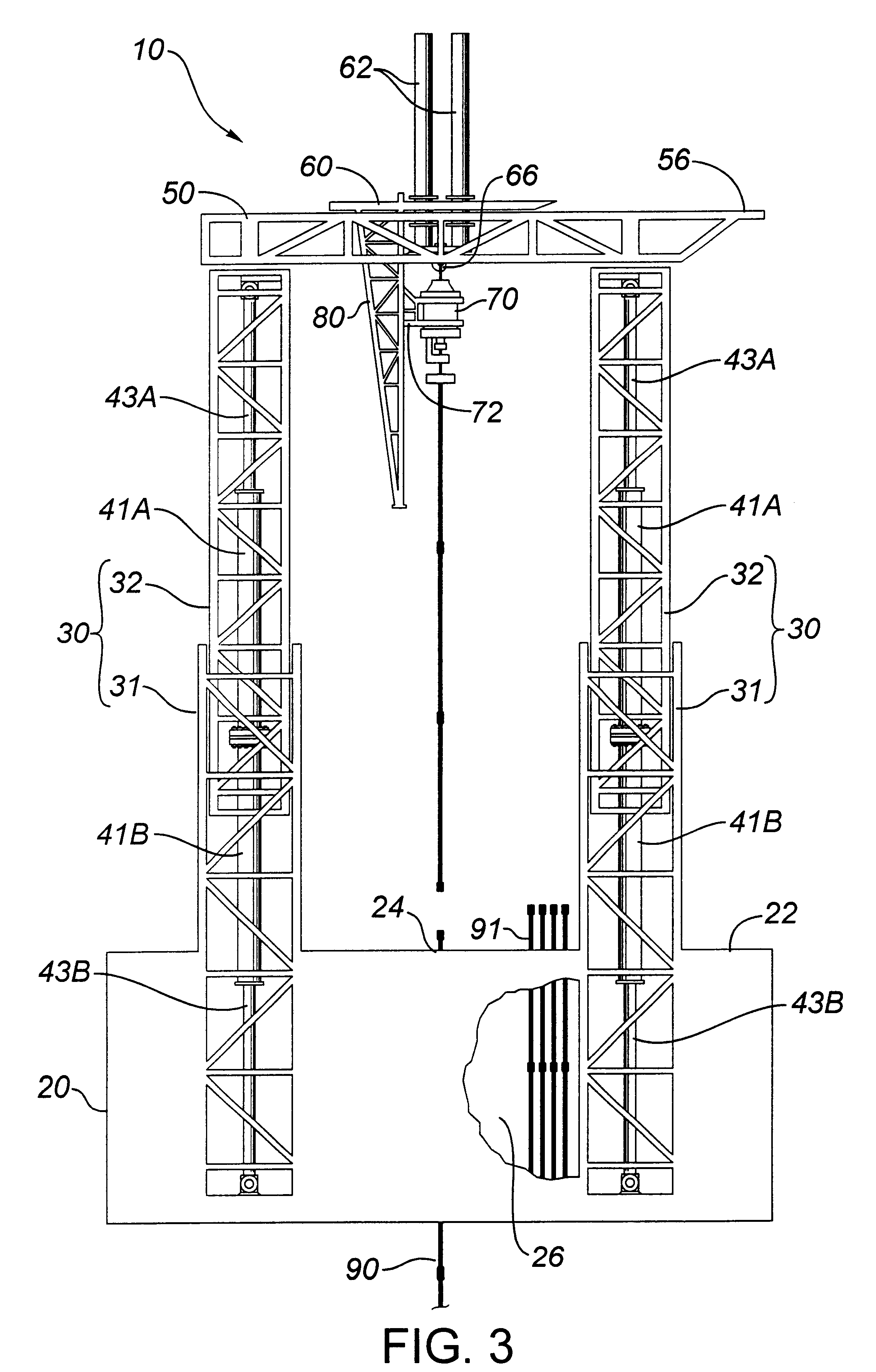 Rig Floor Elevation : Patent us hydraulic drilling rig google patents