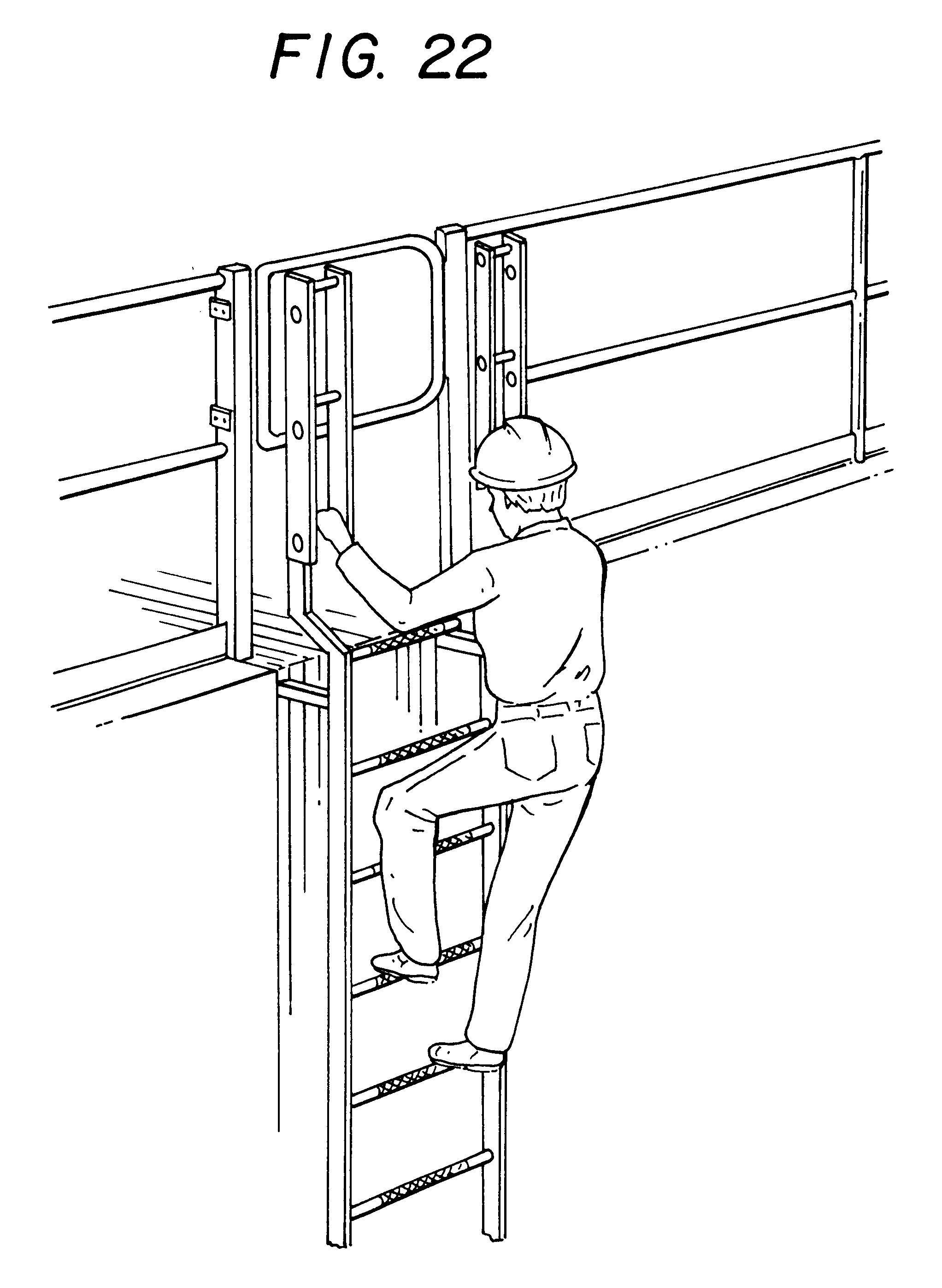 Patent Us6347685 Walk Through Ladder Google Patents