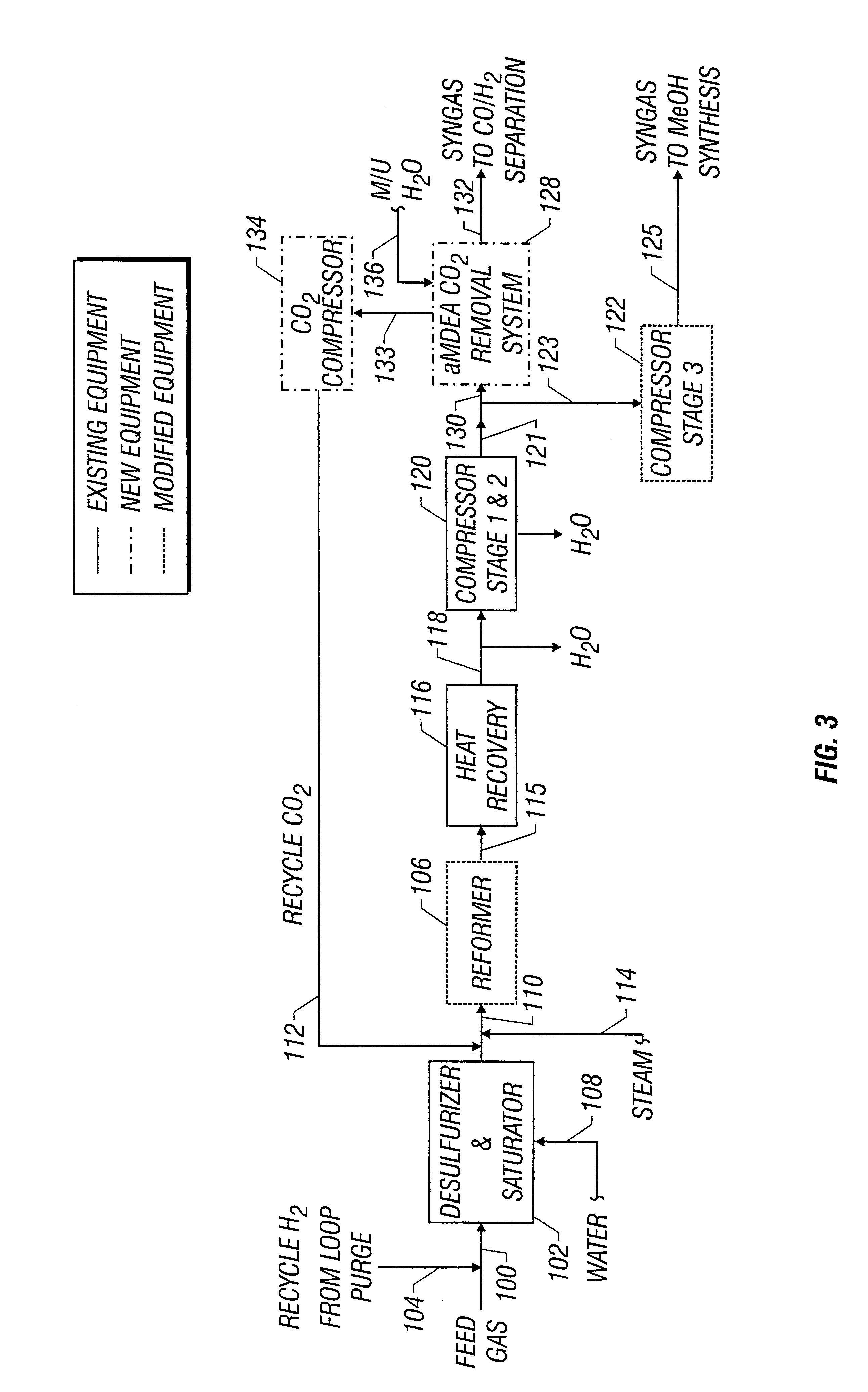 patent us6353133 - methanol plant retrofit